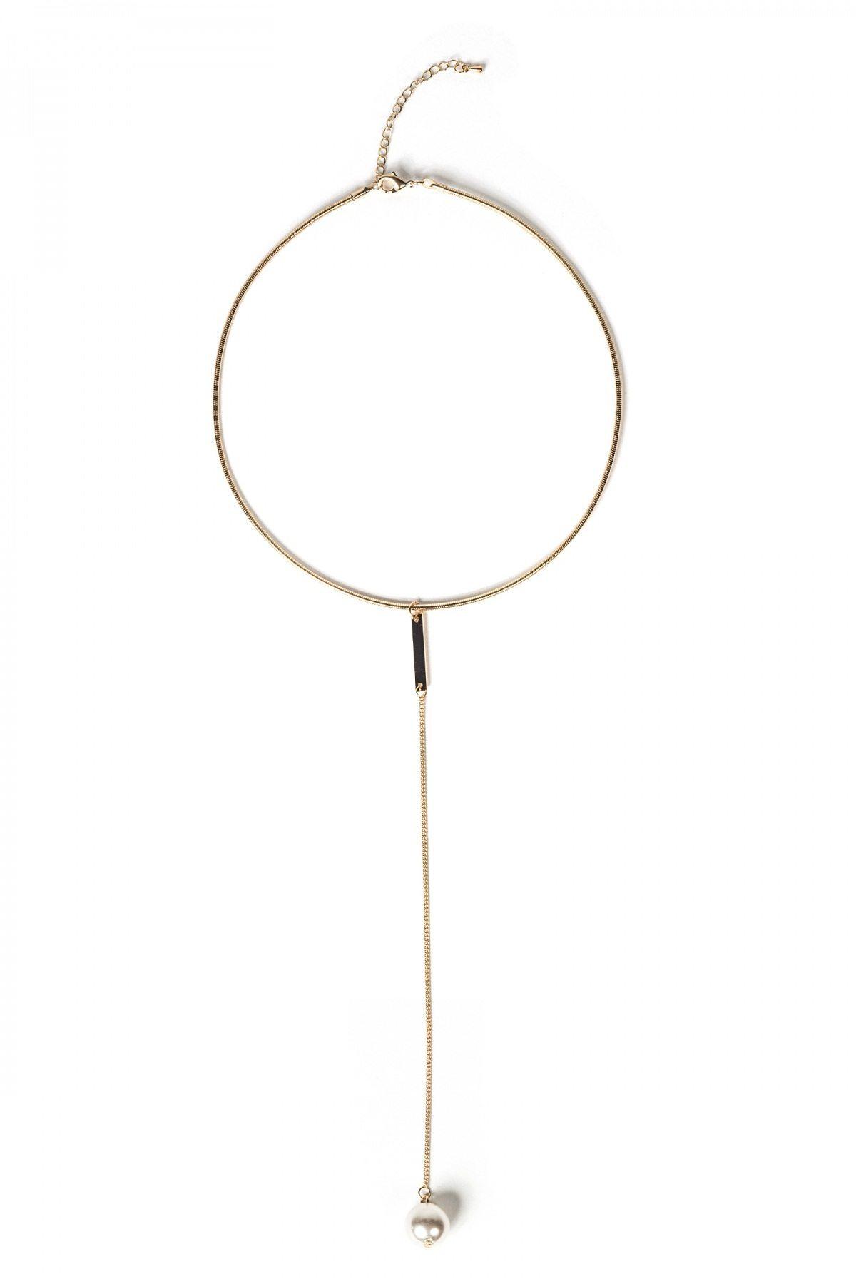 Colier auriu cu perla Auriu