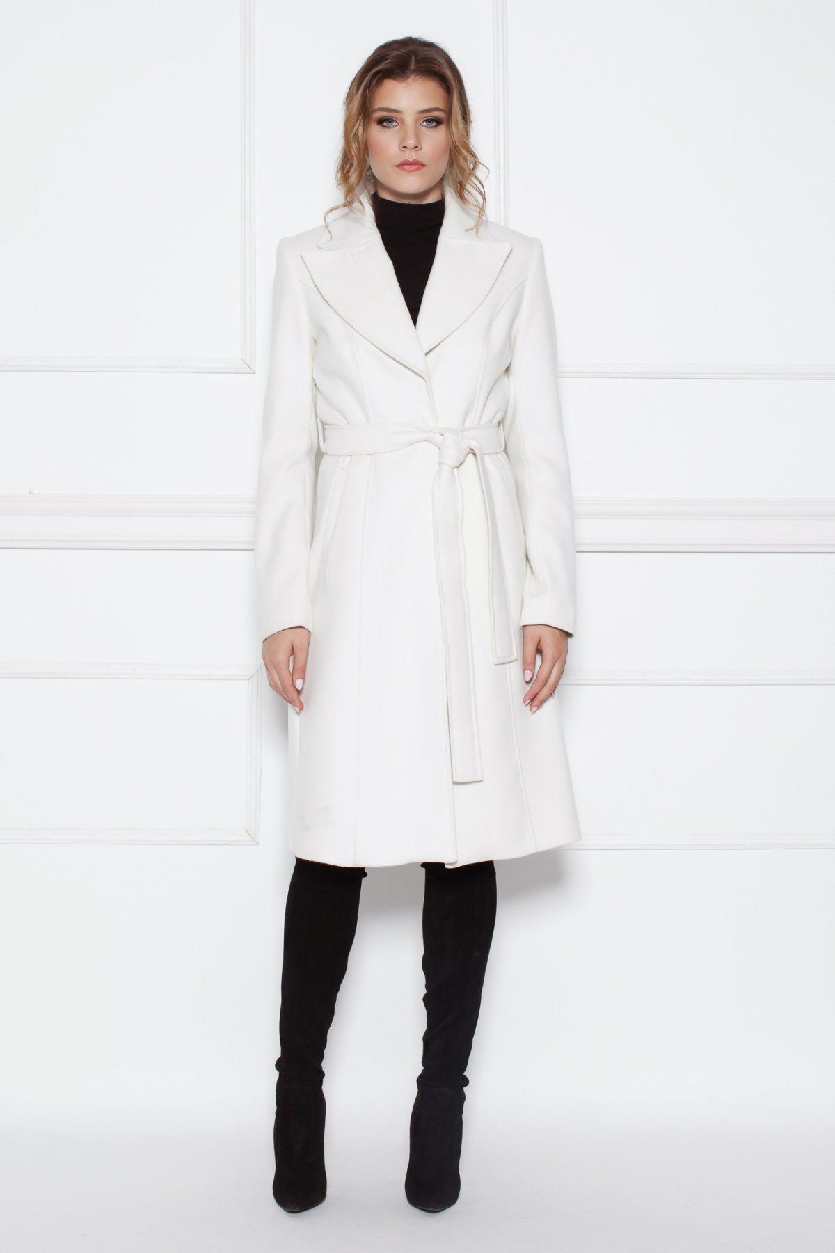 Palton clasic elegant Crem