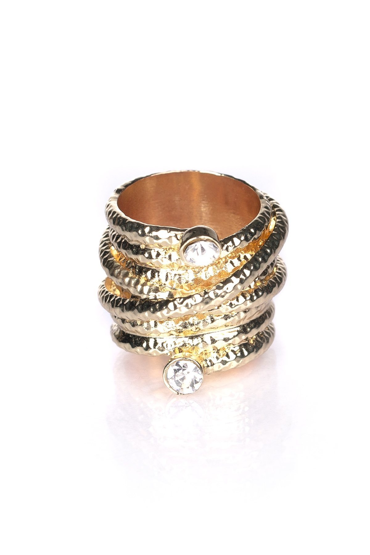 Inel auriu cu pietre Auriu