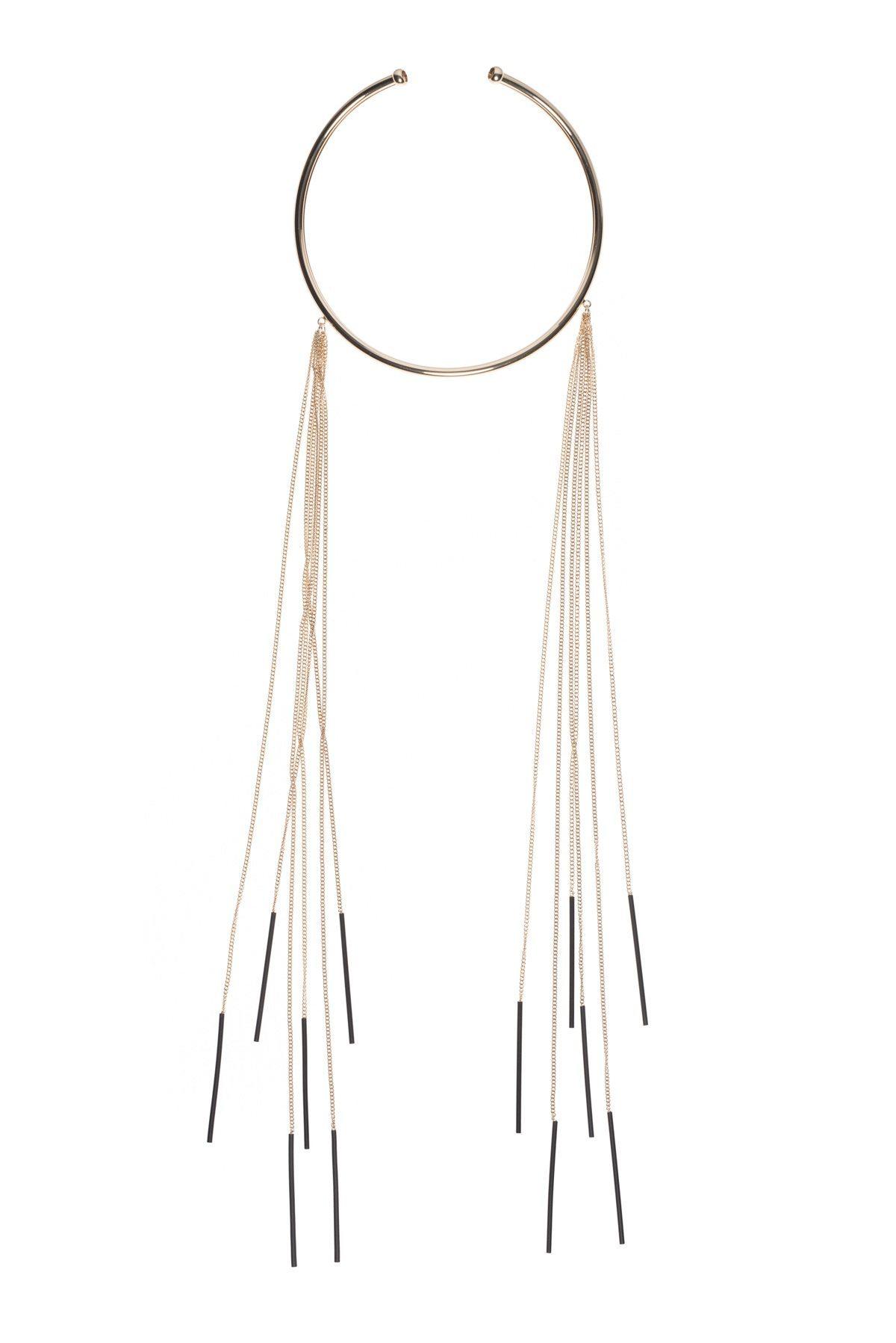 Colier elegant cu lanturi Auriu
