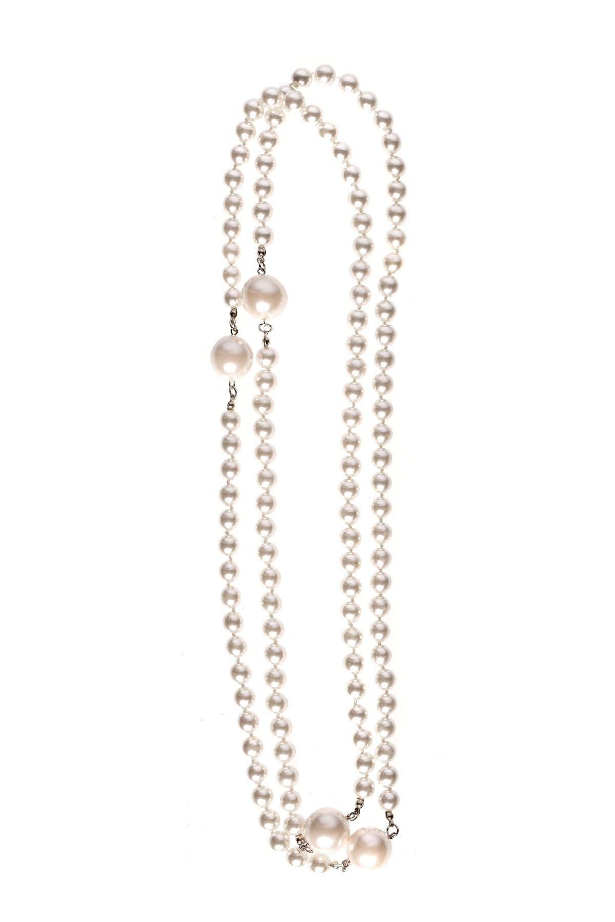 Colier cu perle Alb