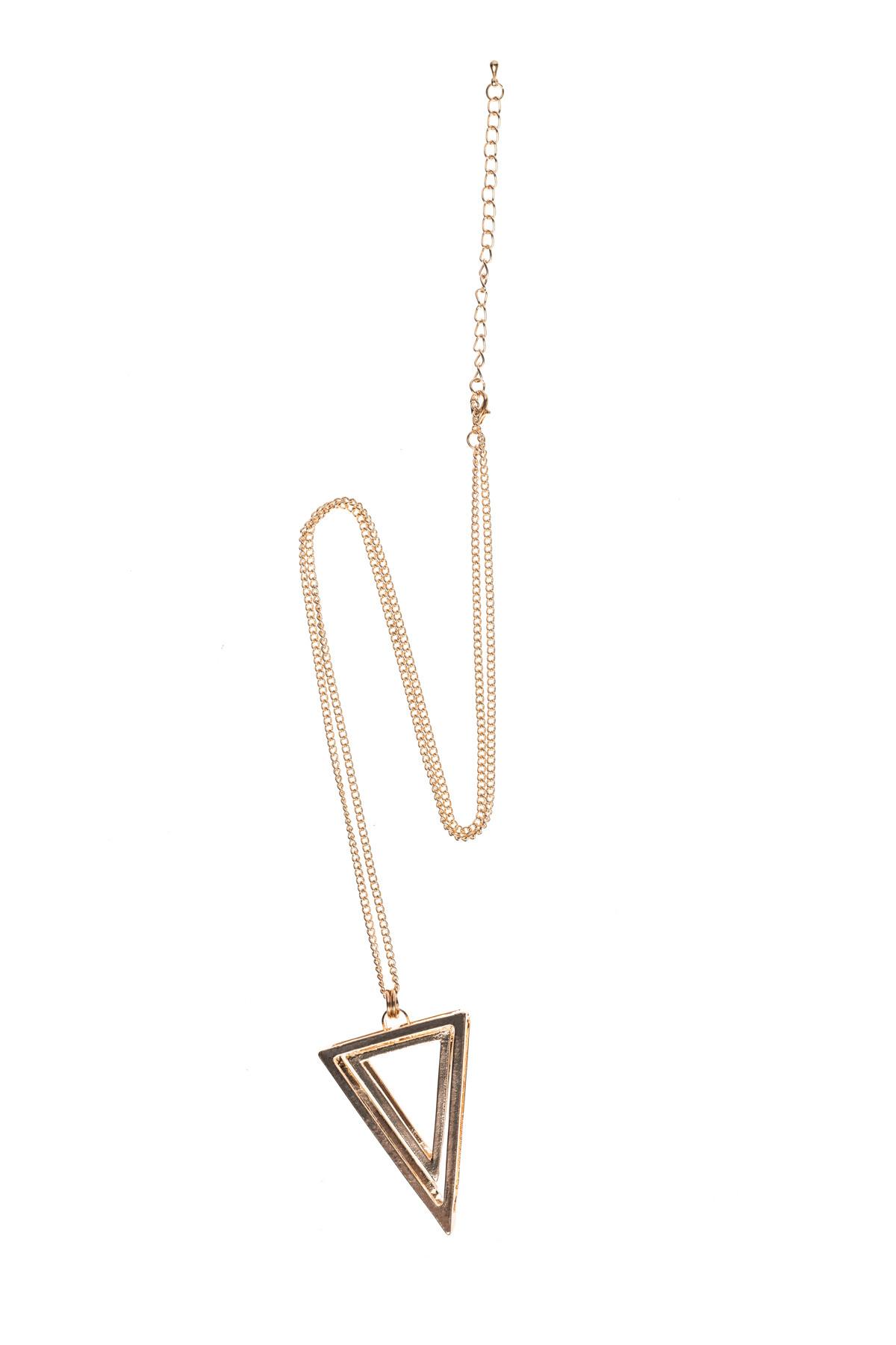 Colier auriu in forma de triunghi Auriu