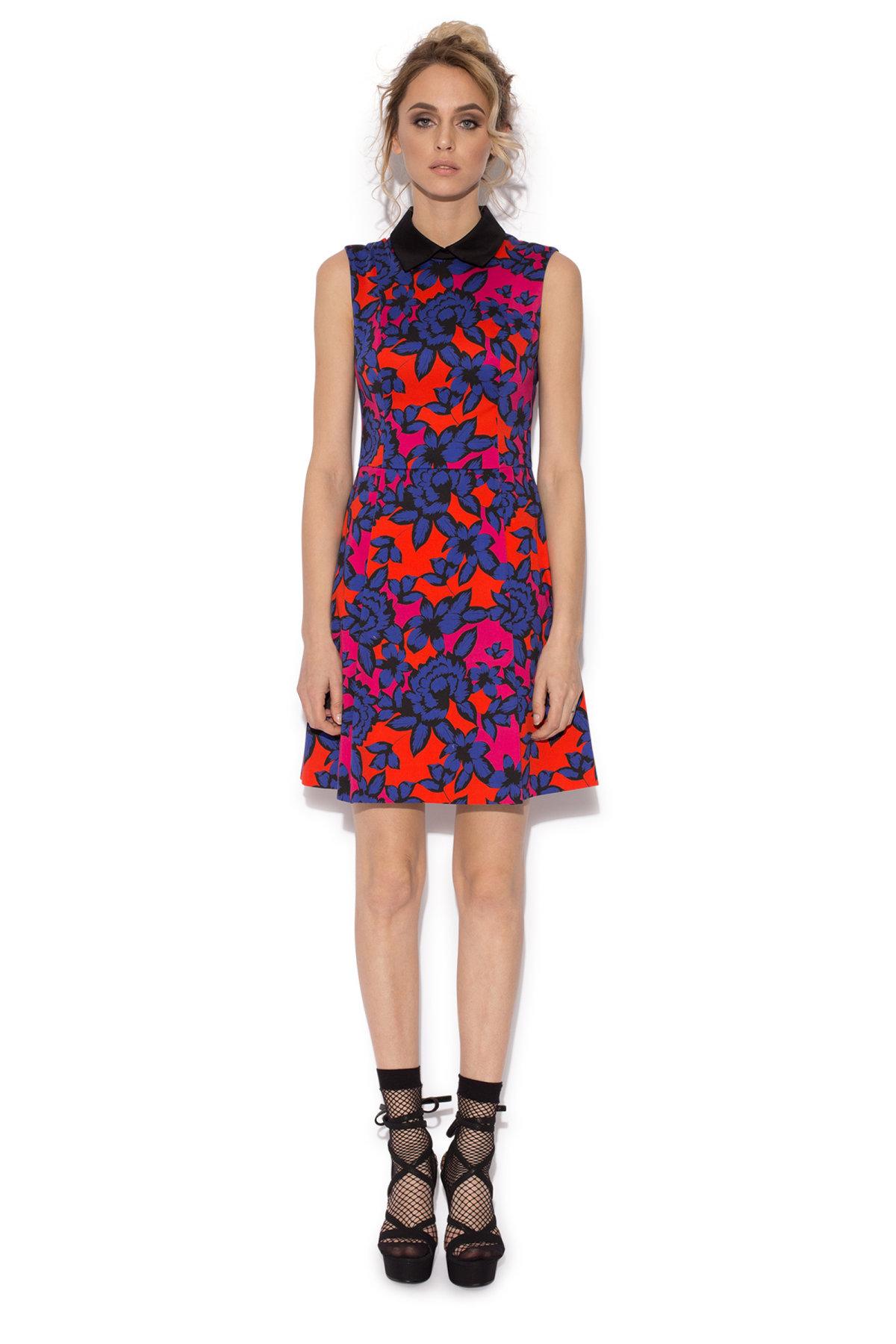 Rochie cu imprimeu multicolor Imprimeu