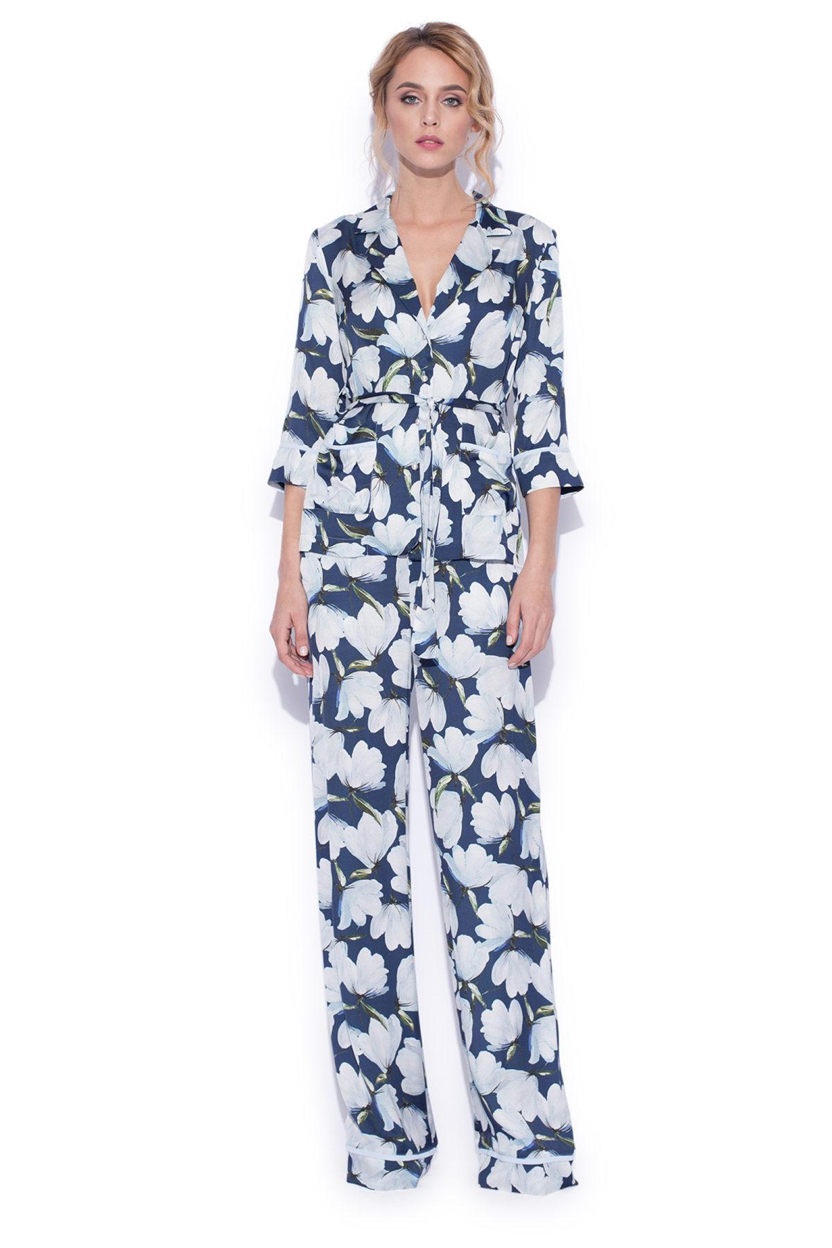 Pantaloni largi cu imprimeu floral IMPRIMAT