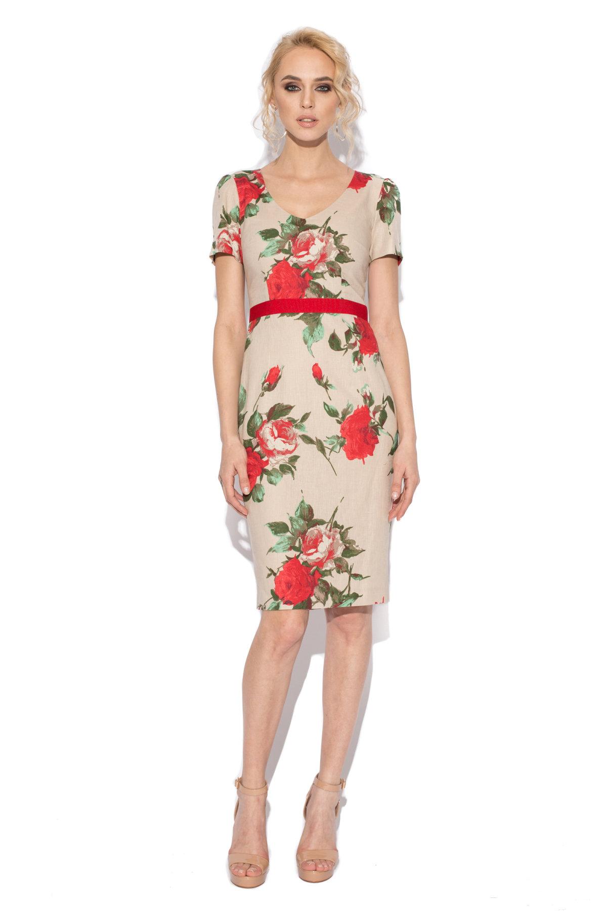 Rochie conica cu print floral IMPRIMAT