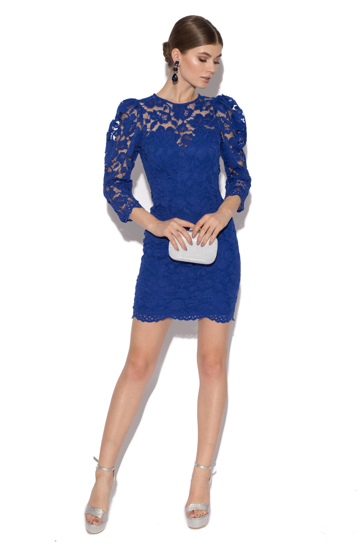 Rochie de seara din dantela Albastru