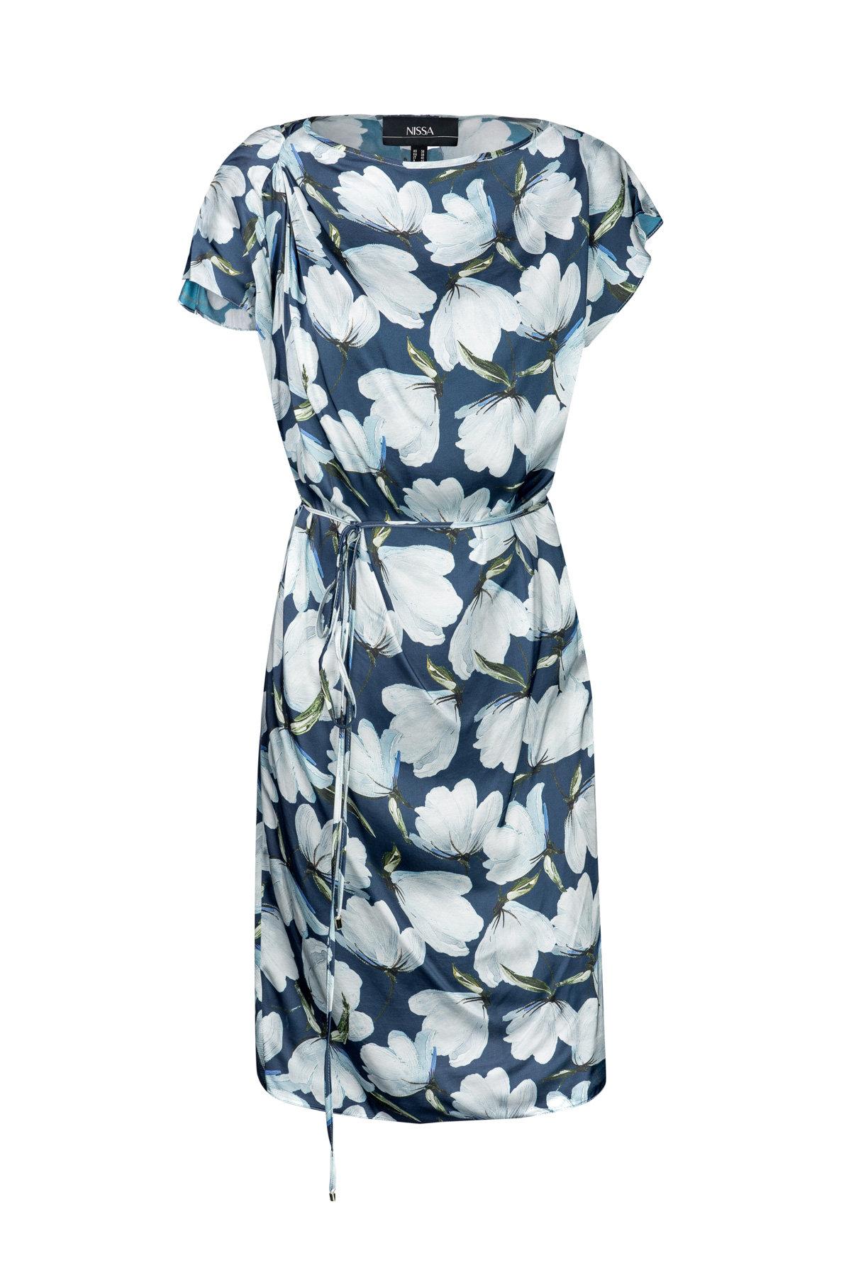 Rochie De Zi Cu Imprimeu Floral Imprimeu Albastru
