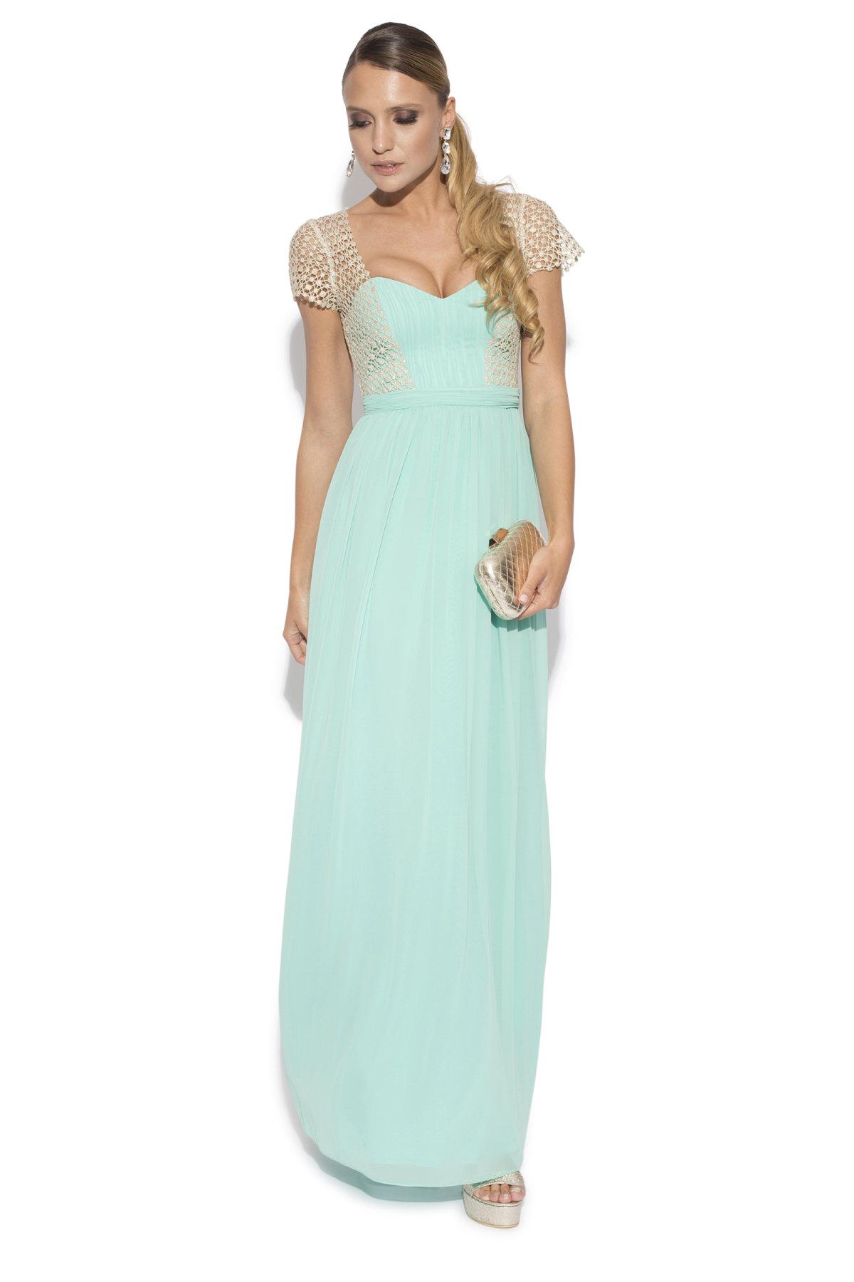 Rochie de seara cu corset Aqua