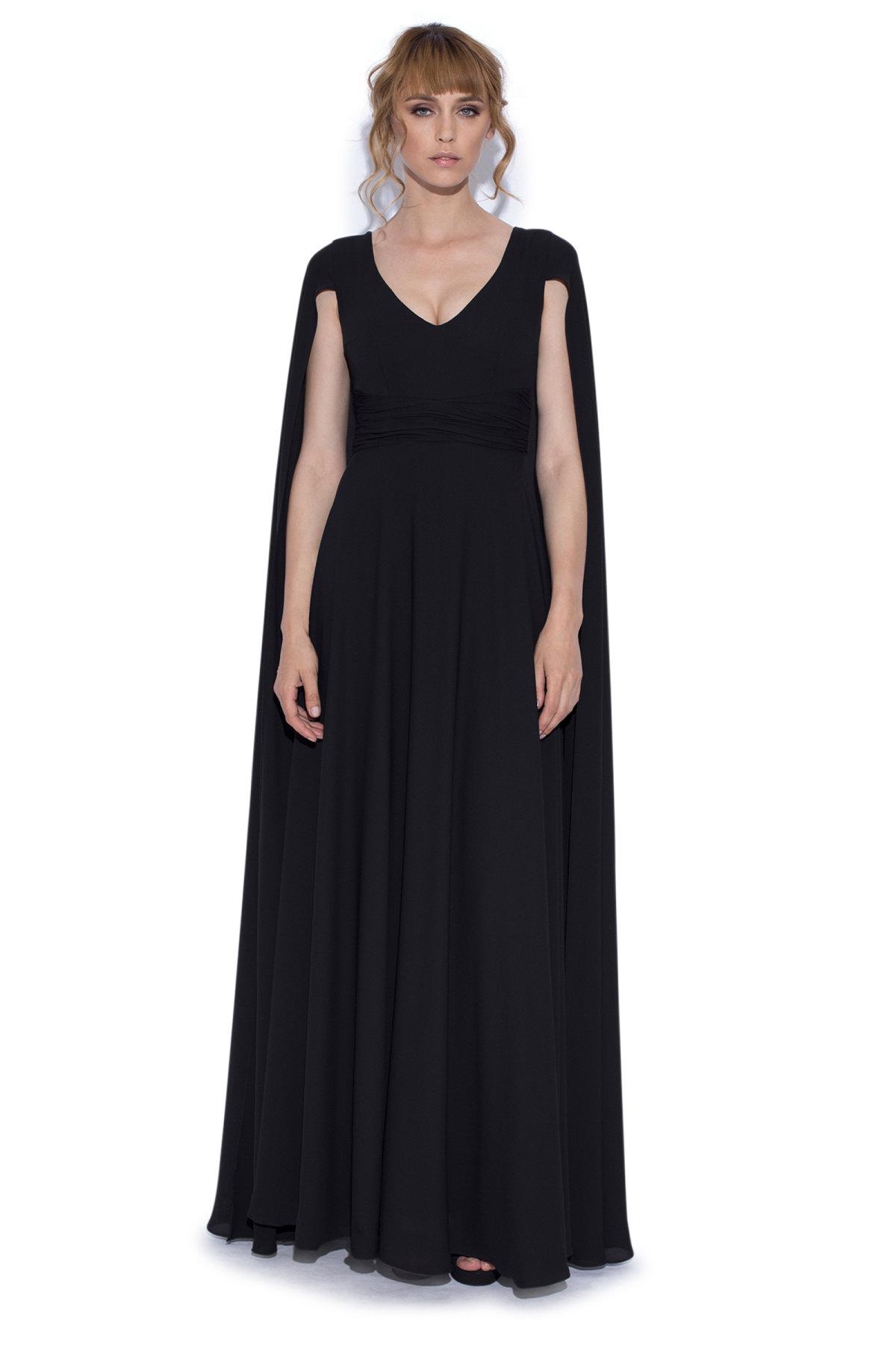 Rochie de seara cu capa Negru