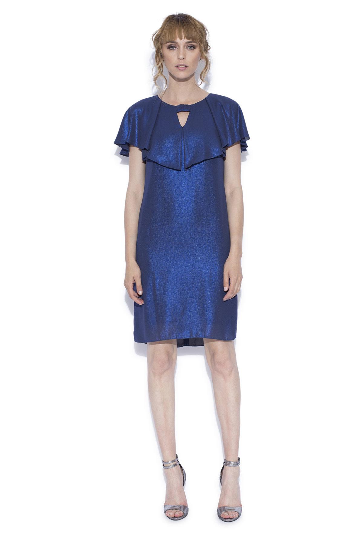 Rochie de seara albastru sidef Bleumarin