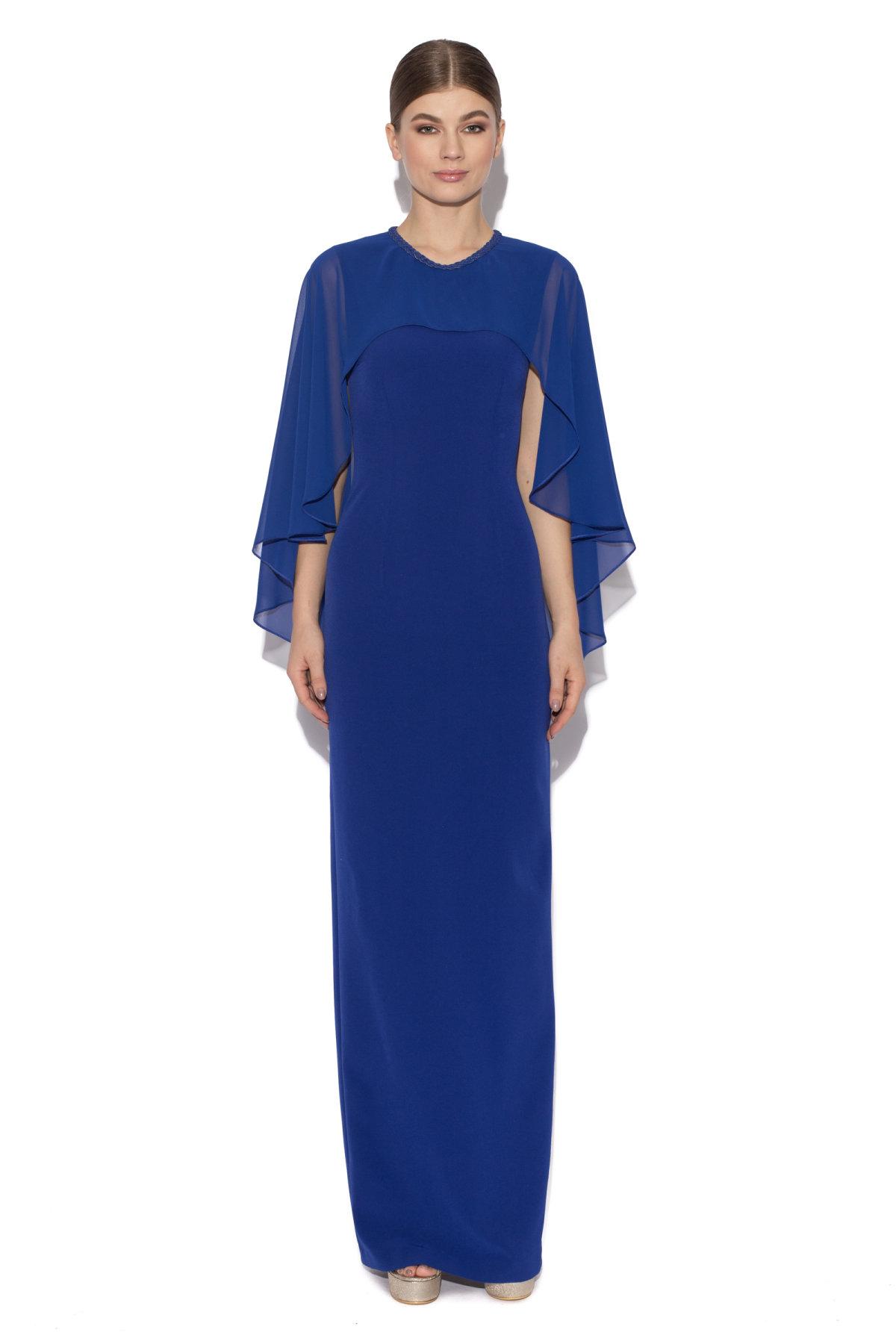 Rochie albastra cu capa Albastru