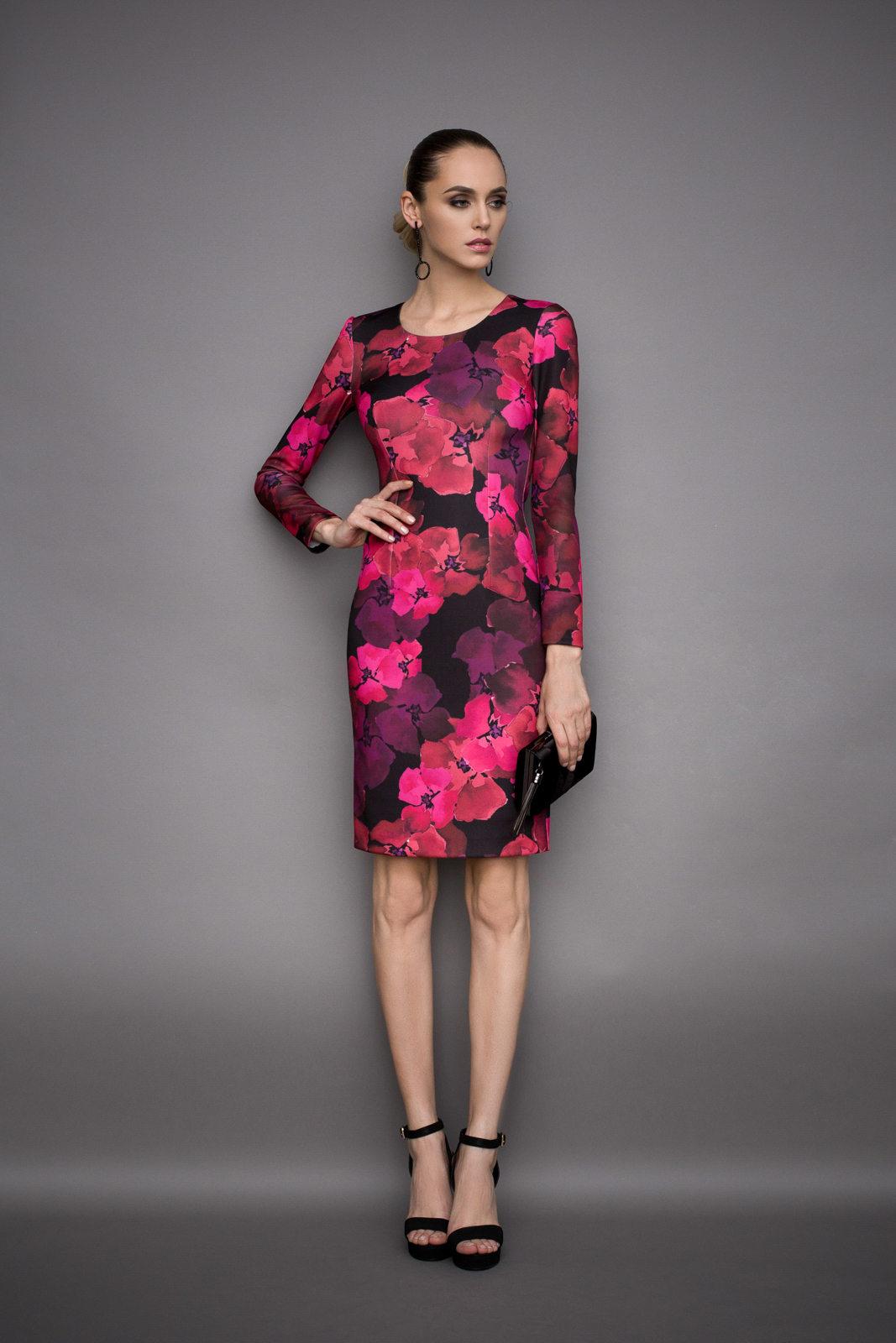 Rochie midi cu imprimeu floral Imprimeu