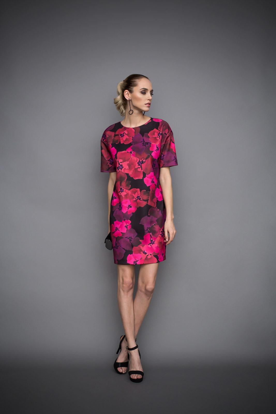 Rochie mini cu imprimeu floral Imprimeu