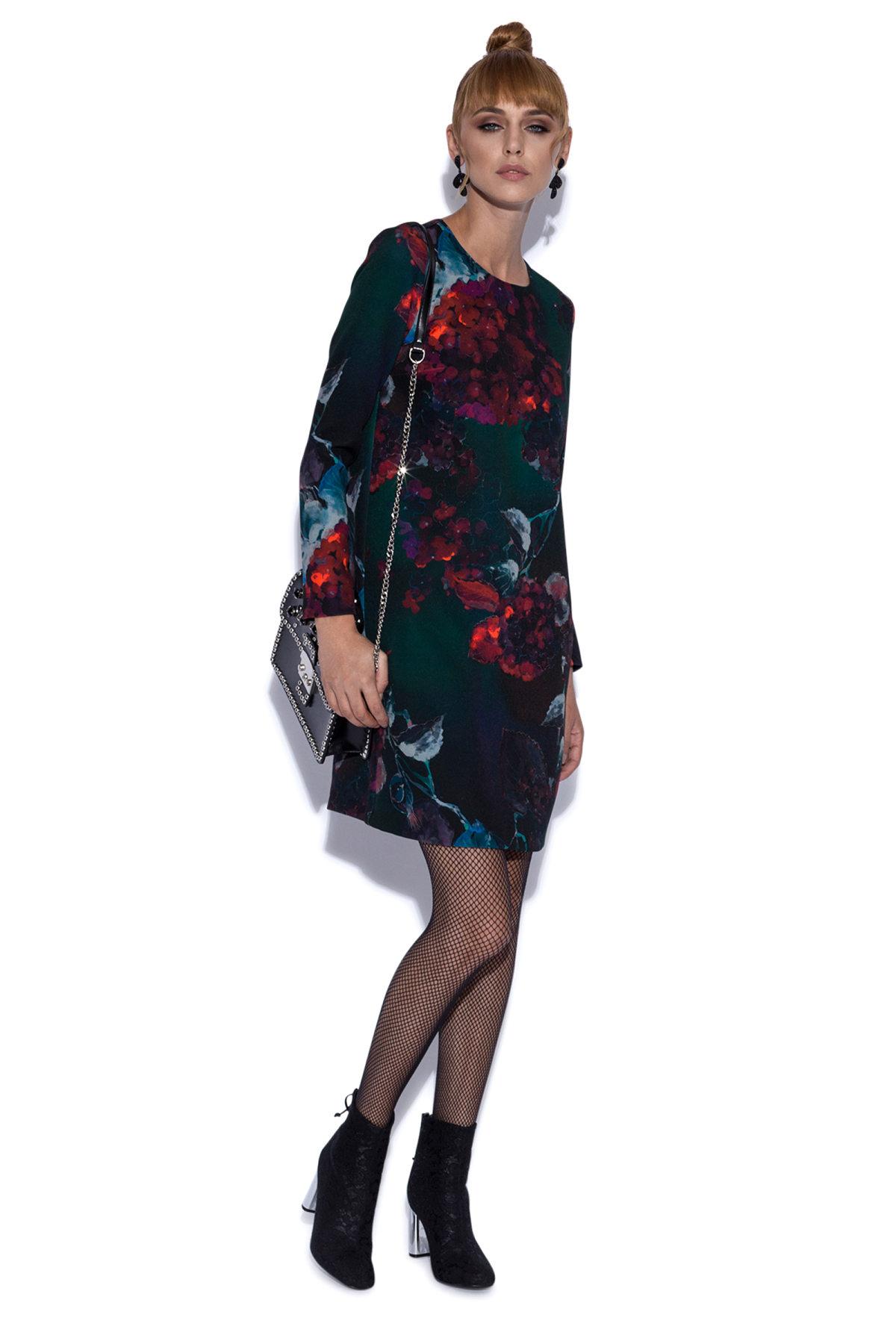 Rochie mini cu imprimeu floral Imprimeu Flori