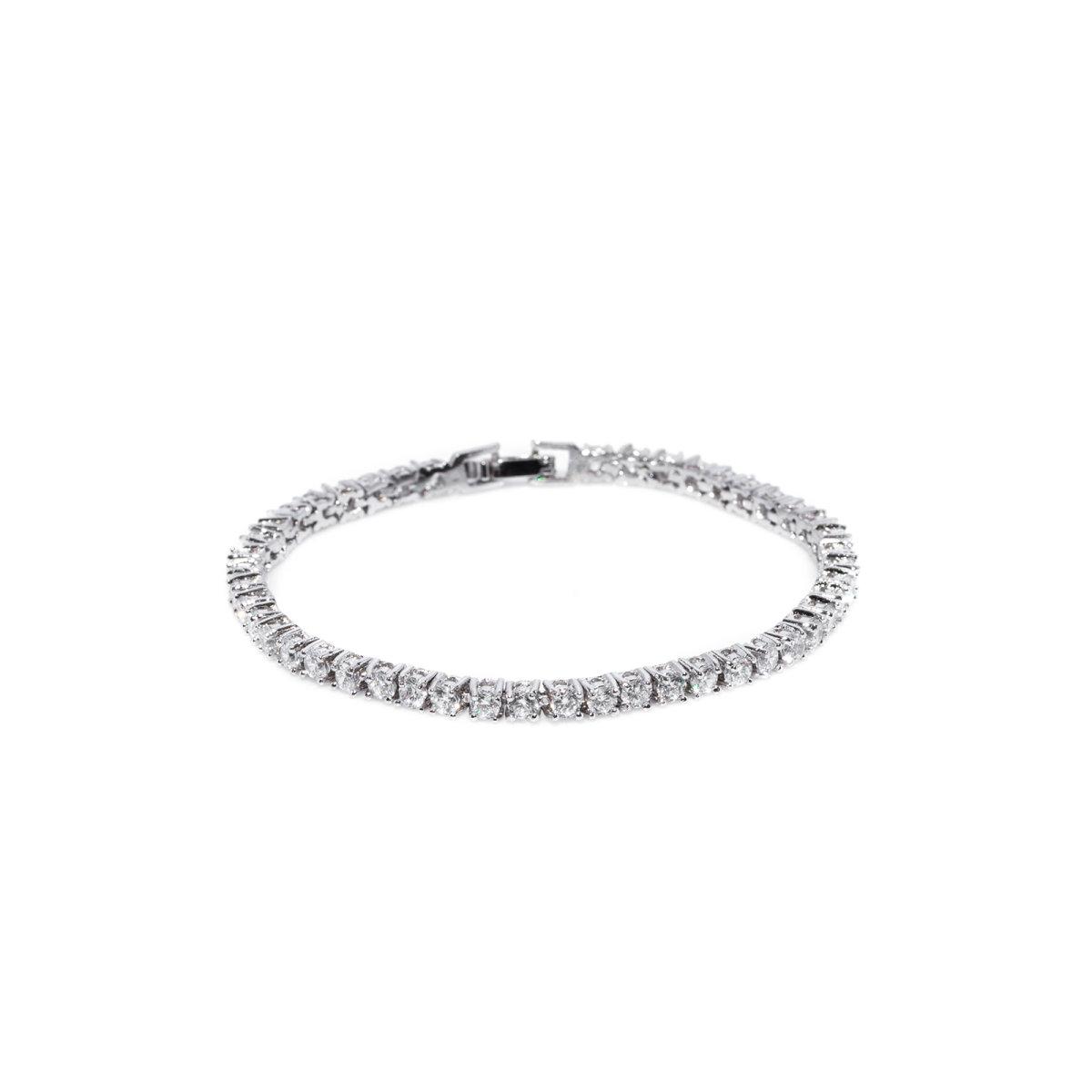 Bratara eleganta cu cristale de zirconiu cubic Argintiu