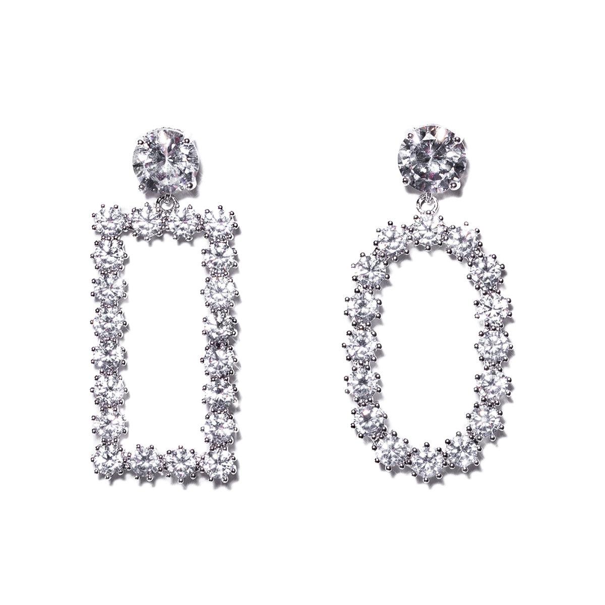 Cercei eleganti diverse forme Argintiu