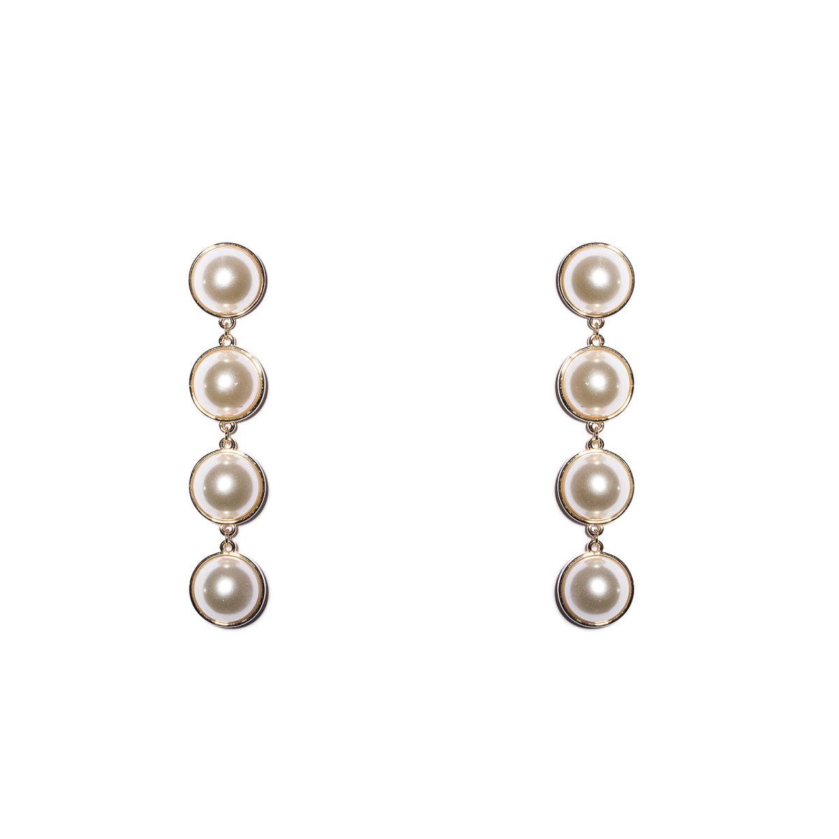 Cercei eleganti cu detalii tip perle Auriu