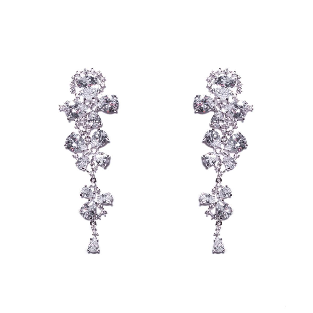 Cercei lungi eleganti Argintiu