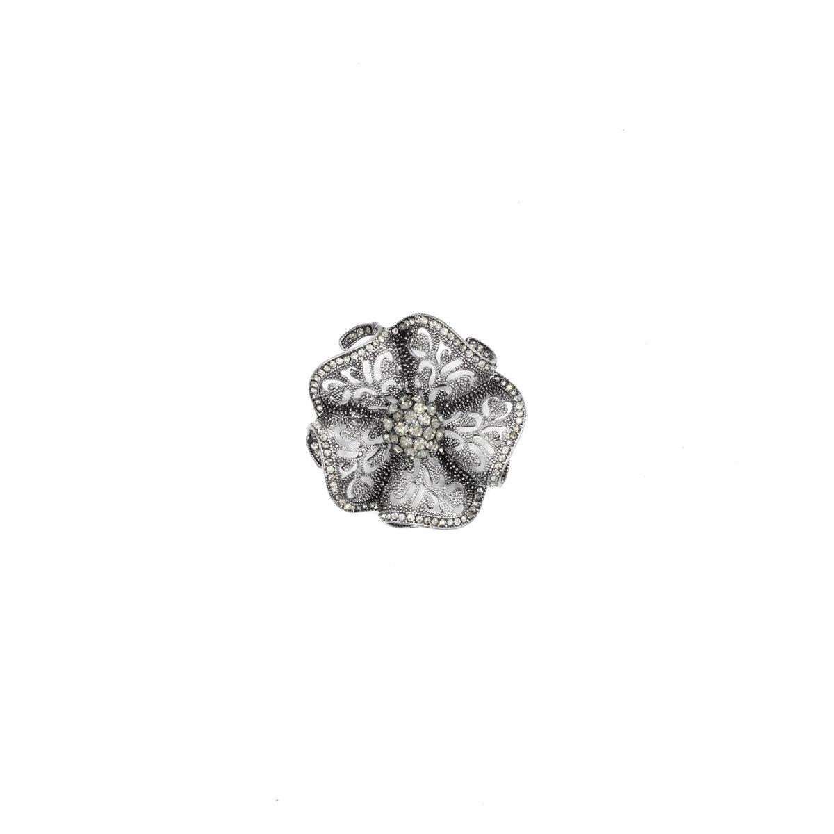 Brosa in forma de floare Argintiu