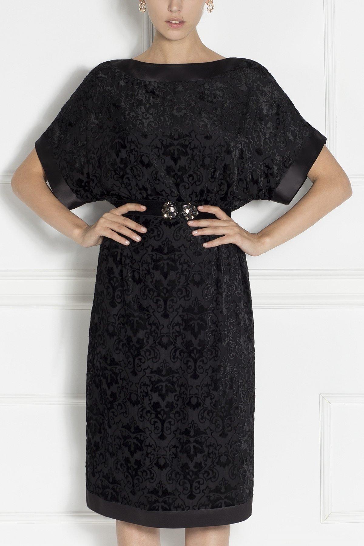 Rochie de seara cu detaliu in talie Negru