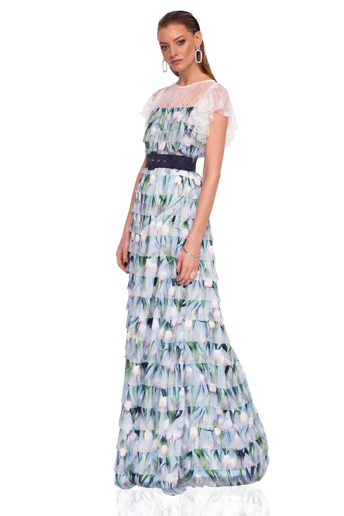 Rochie maxi cu print floral Imprimeu Flori