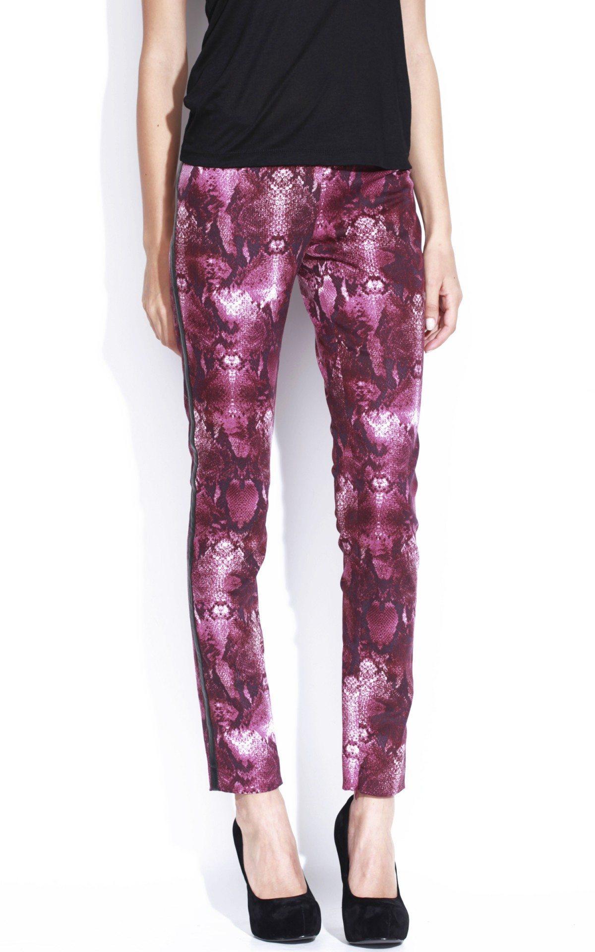 Pantalon conic cu print Imprimat/Mov