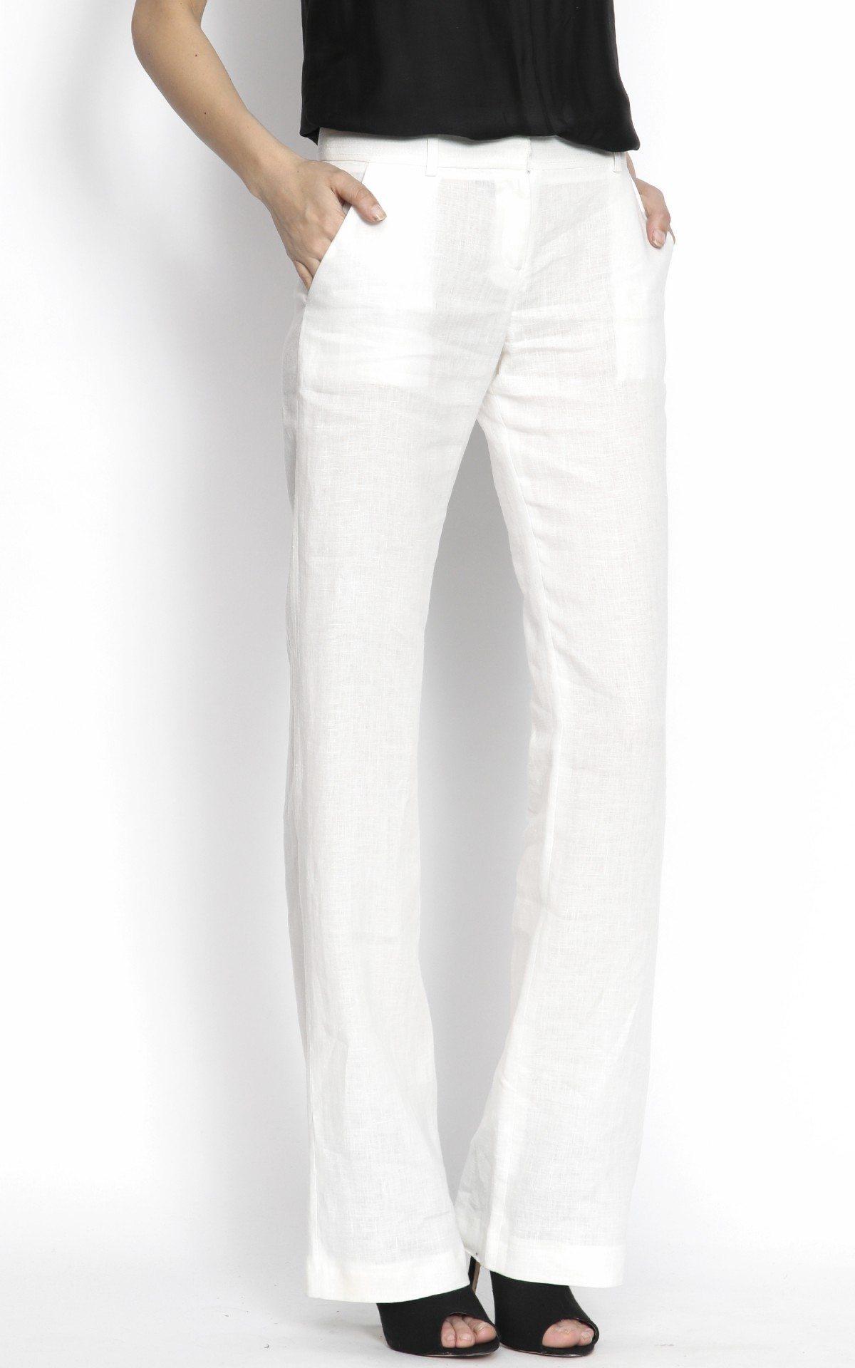 Pantaloni lungi clasici Crem