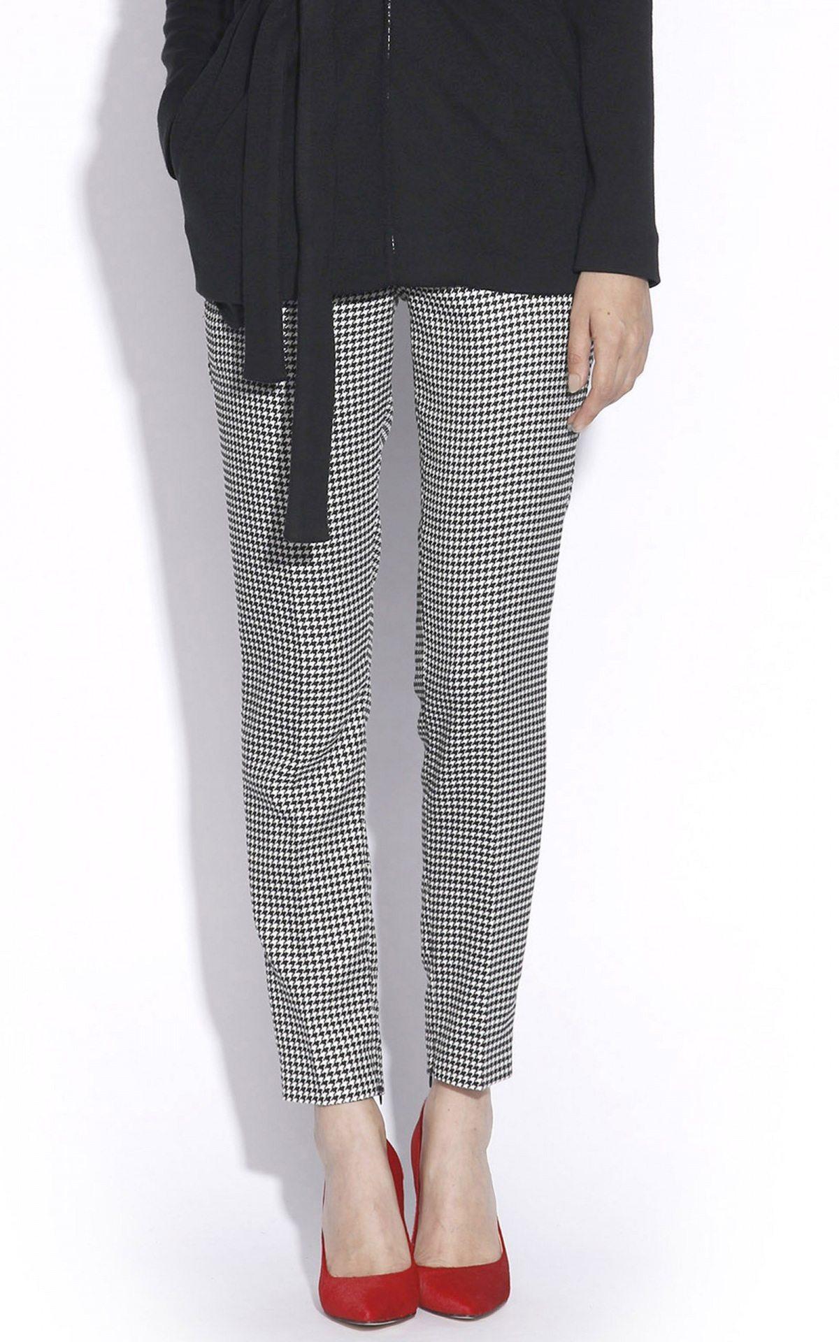 Pantaloni P1182 Negru/Alb