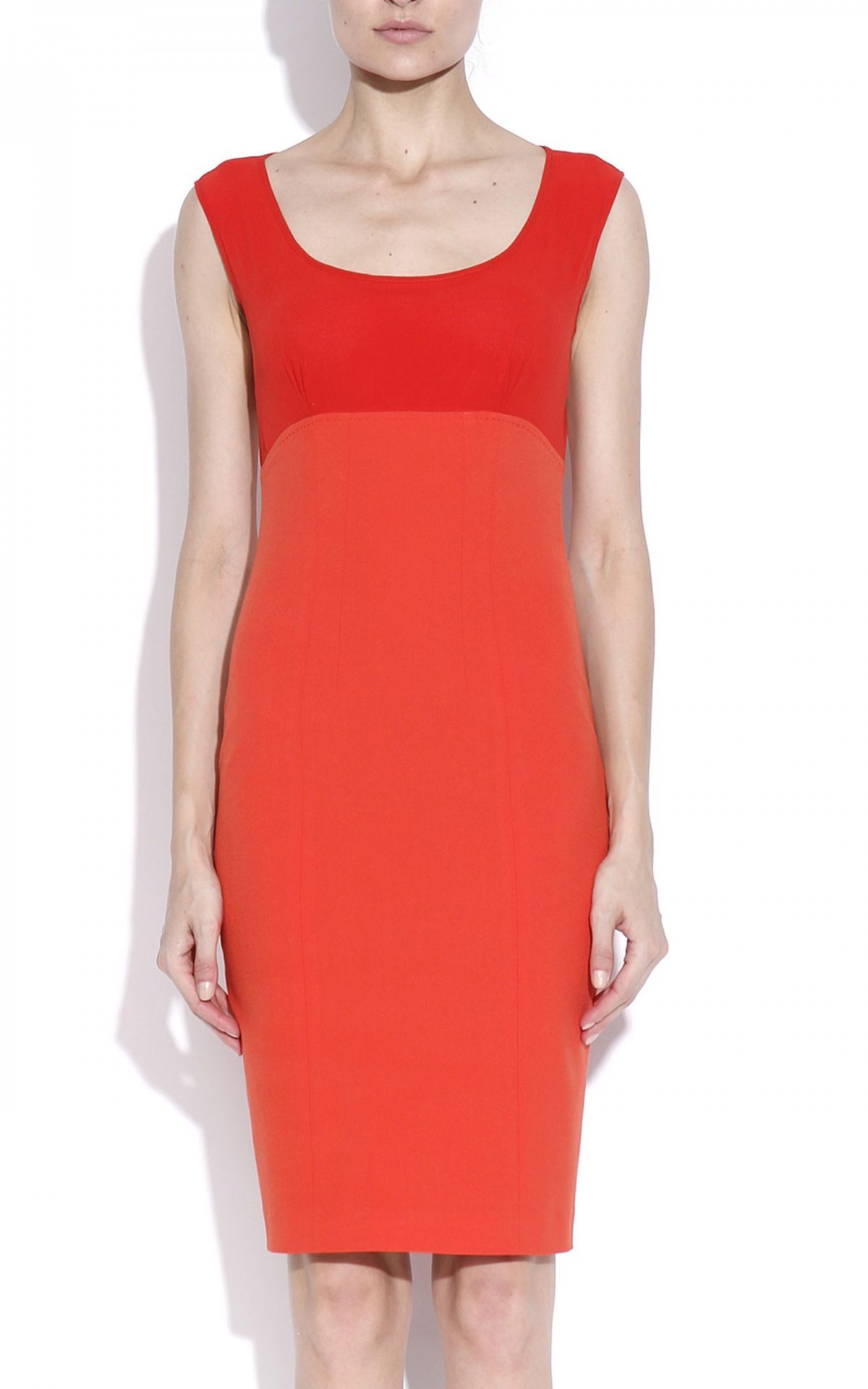 Rochie de zi cu decolteu rotund Rosu