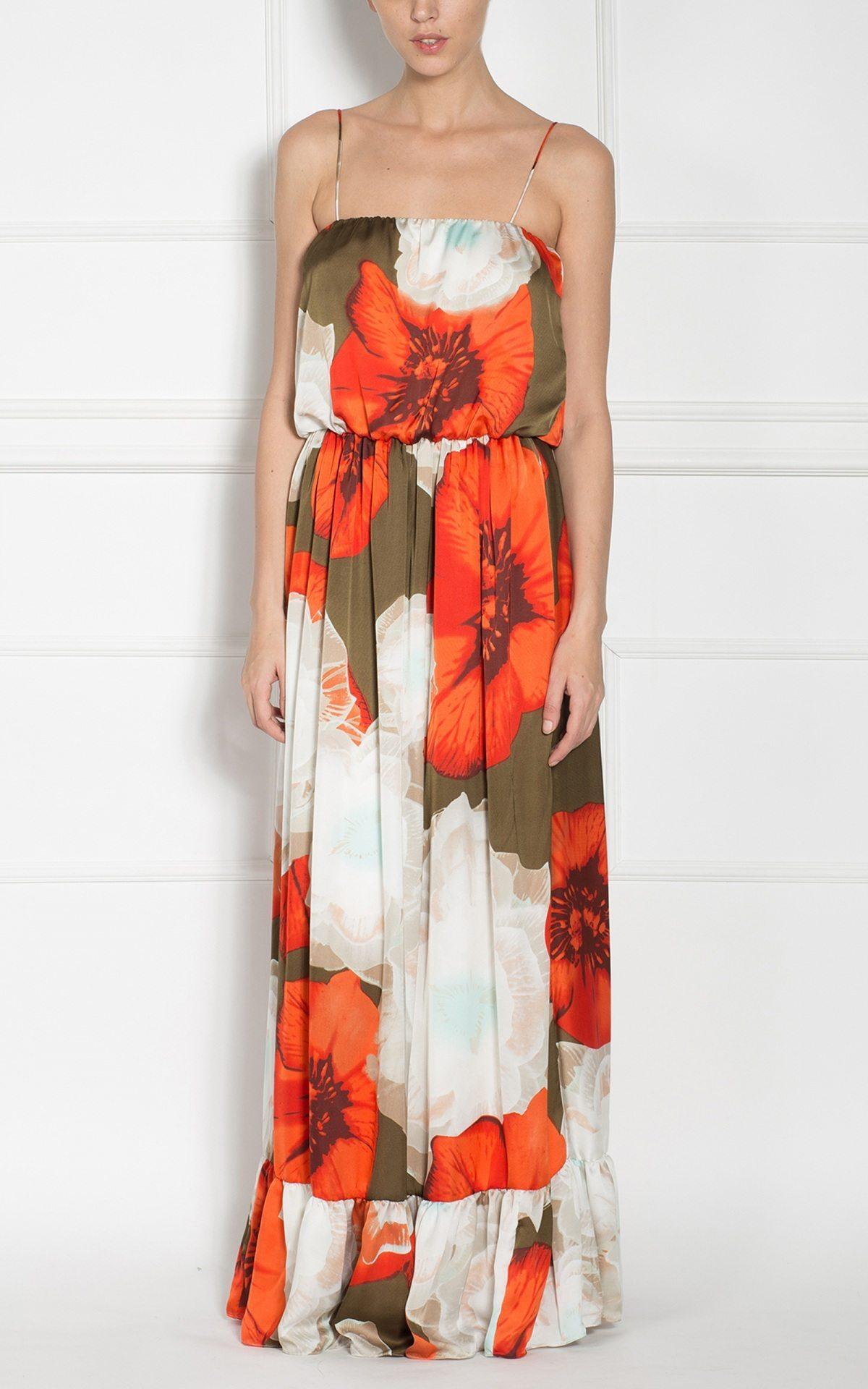 Rochie maxi cu bretele subtiri Imprimat