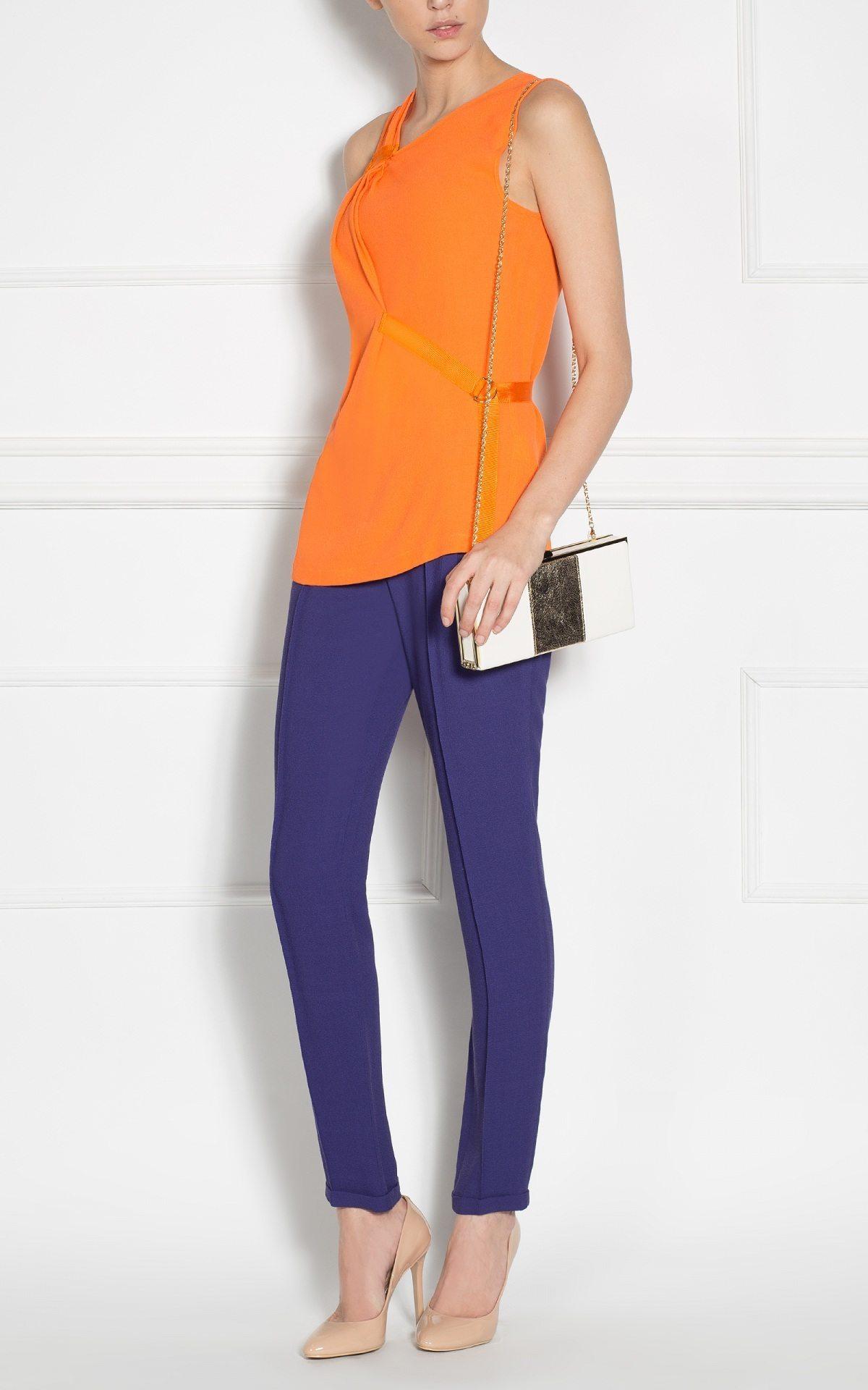 Pantaloni bleumarin conici Bleumarin