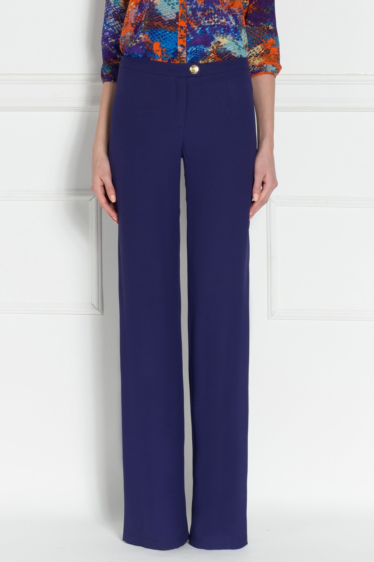 Pantaloni P6817 Bleumarin