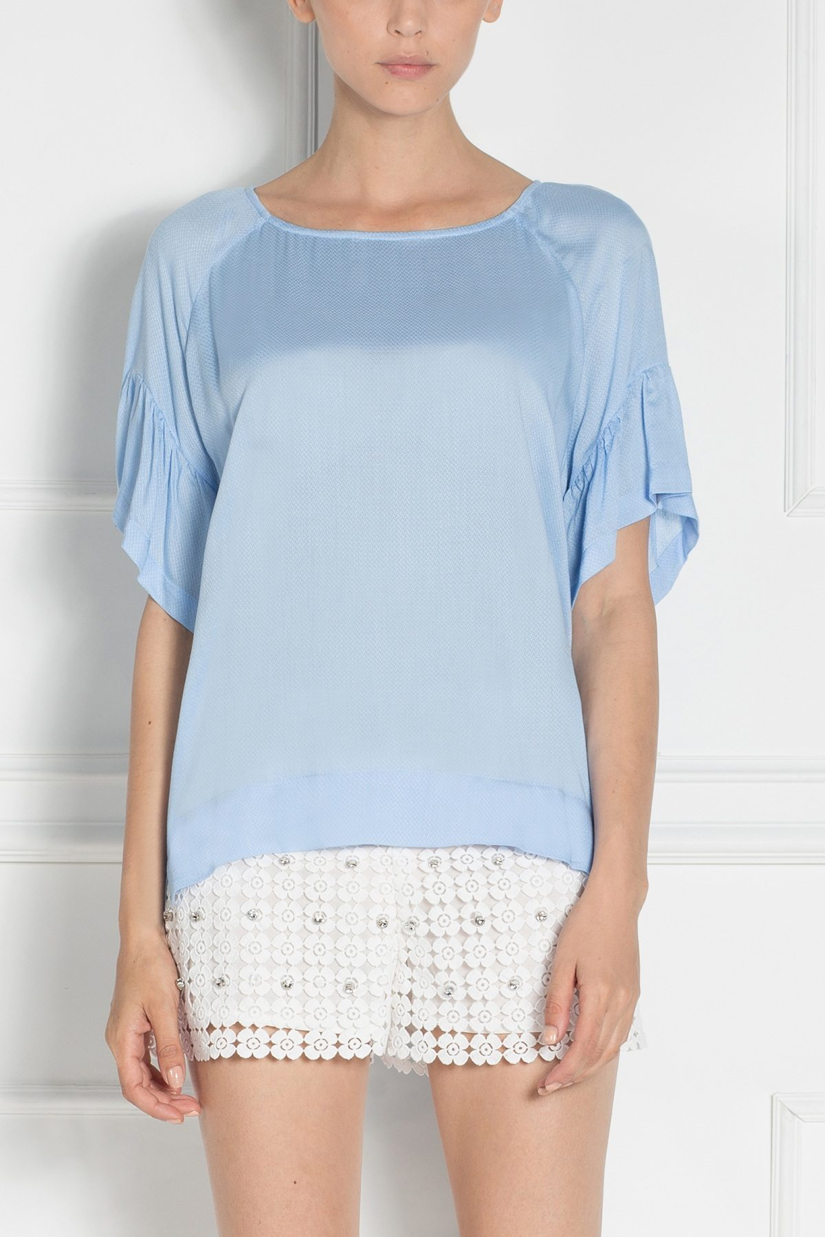 Top in nuante pastel Albastru