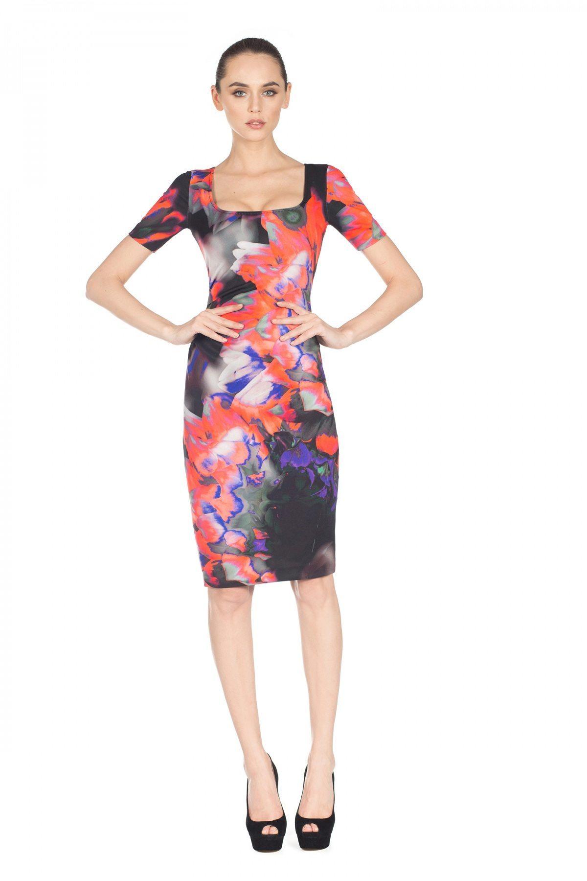 Rochie de zi cu print colorat Print