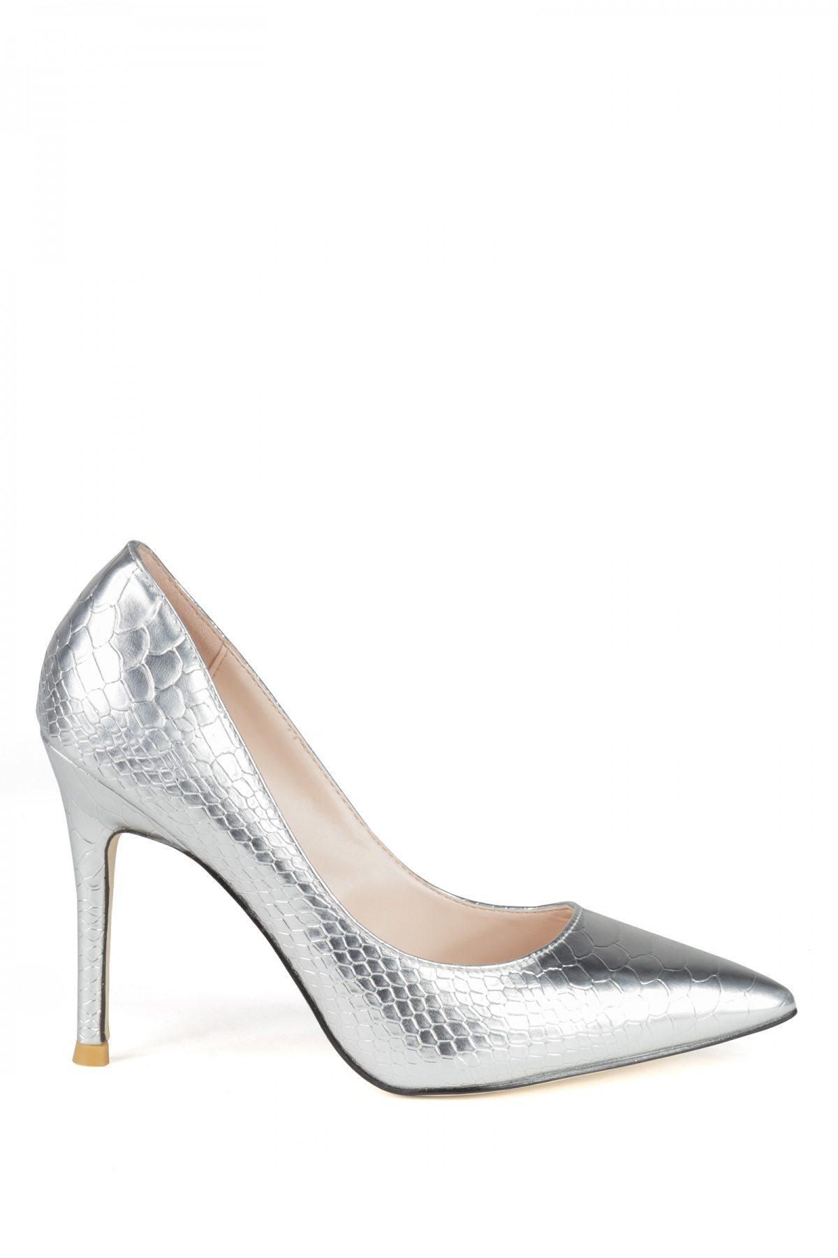 Pantofii stiletto argintii Argintiu