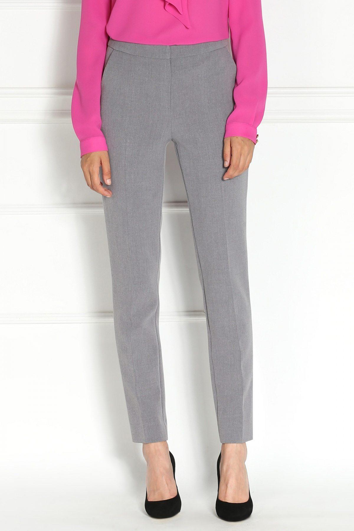 Pantaloni gri office Negru