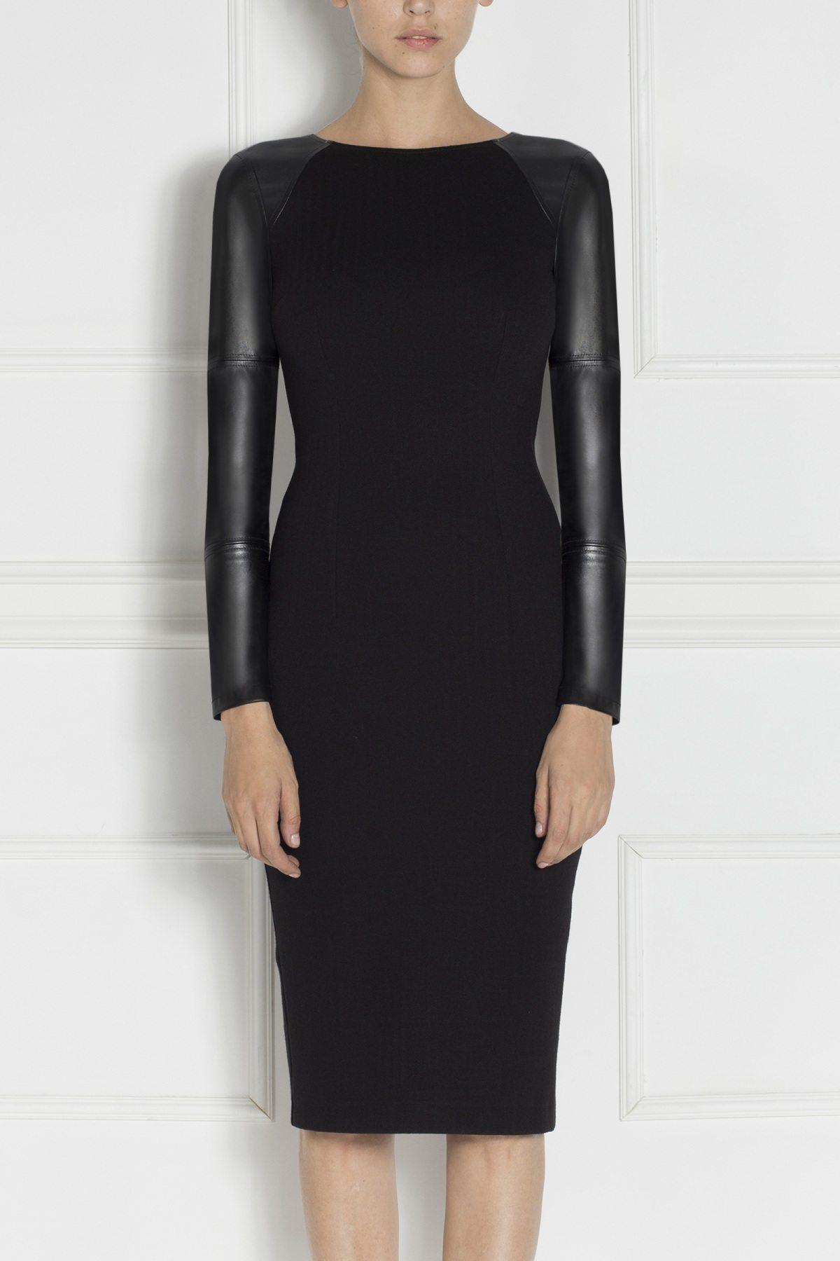 Rochie conica neagra Negru
