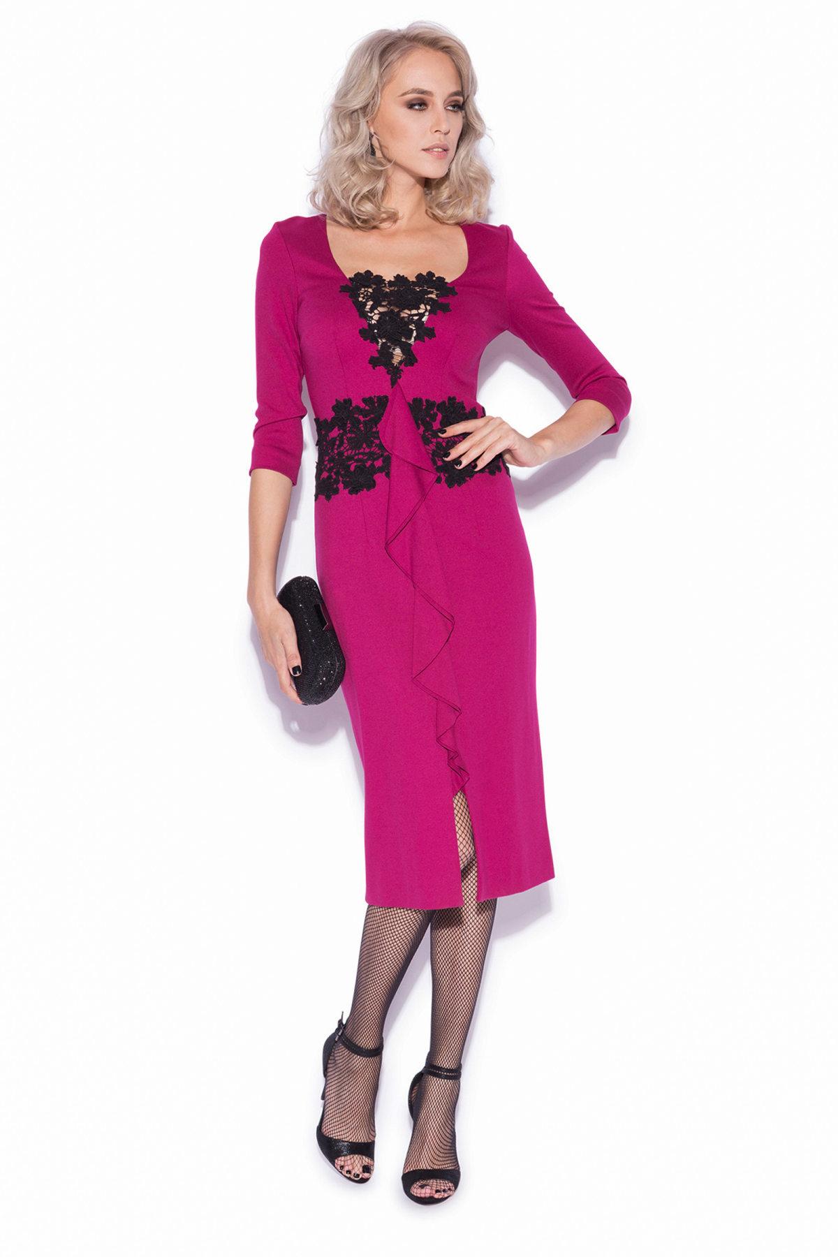 Rochie de seara eleganta Fuchsia