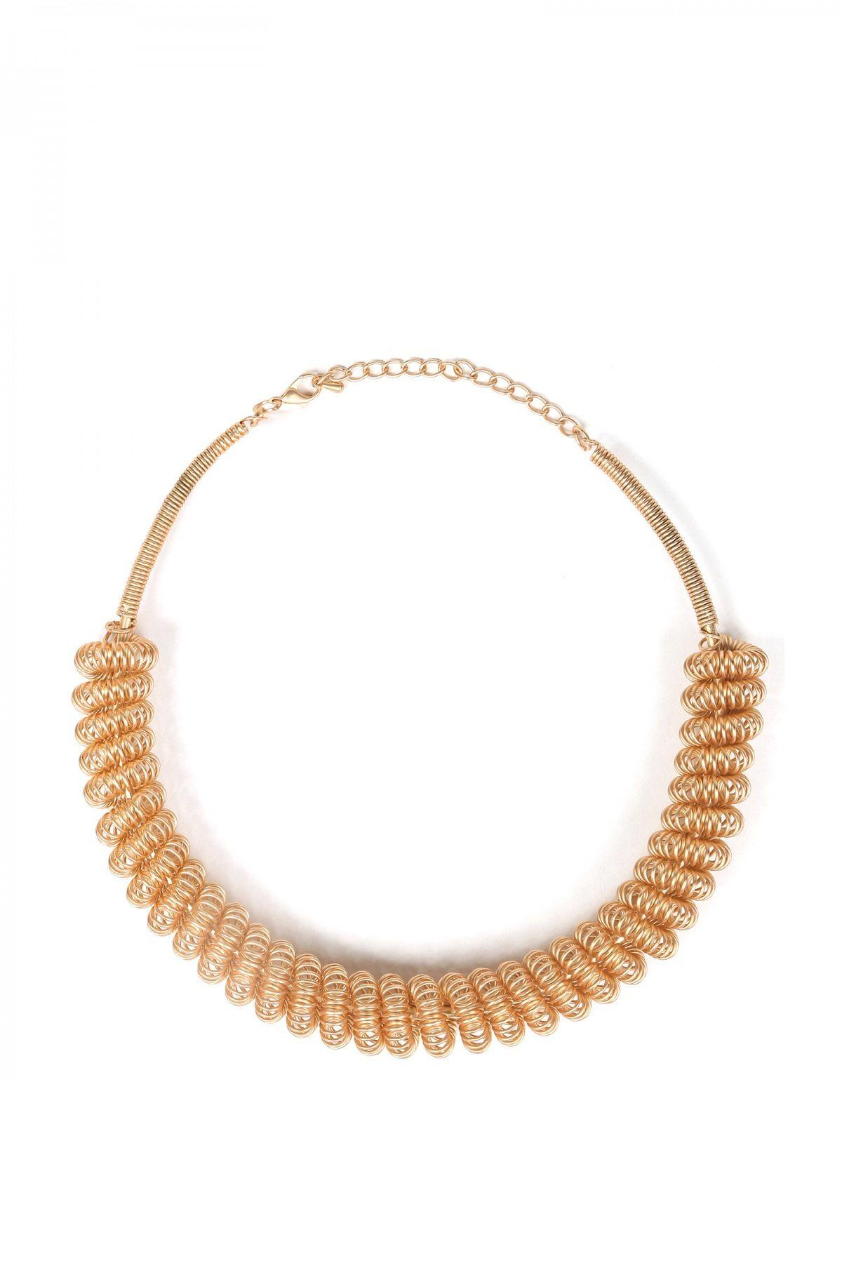 Colier auriu cu spirala Auriu