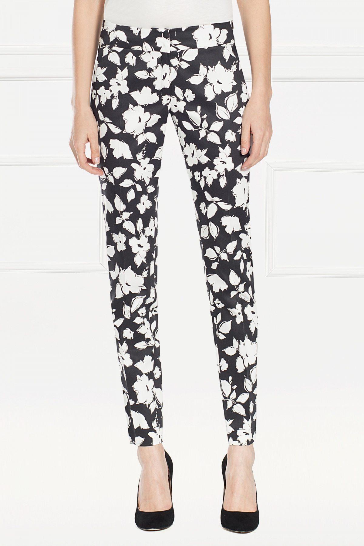 Pantaloni cu print floral Imprimat
