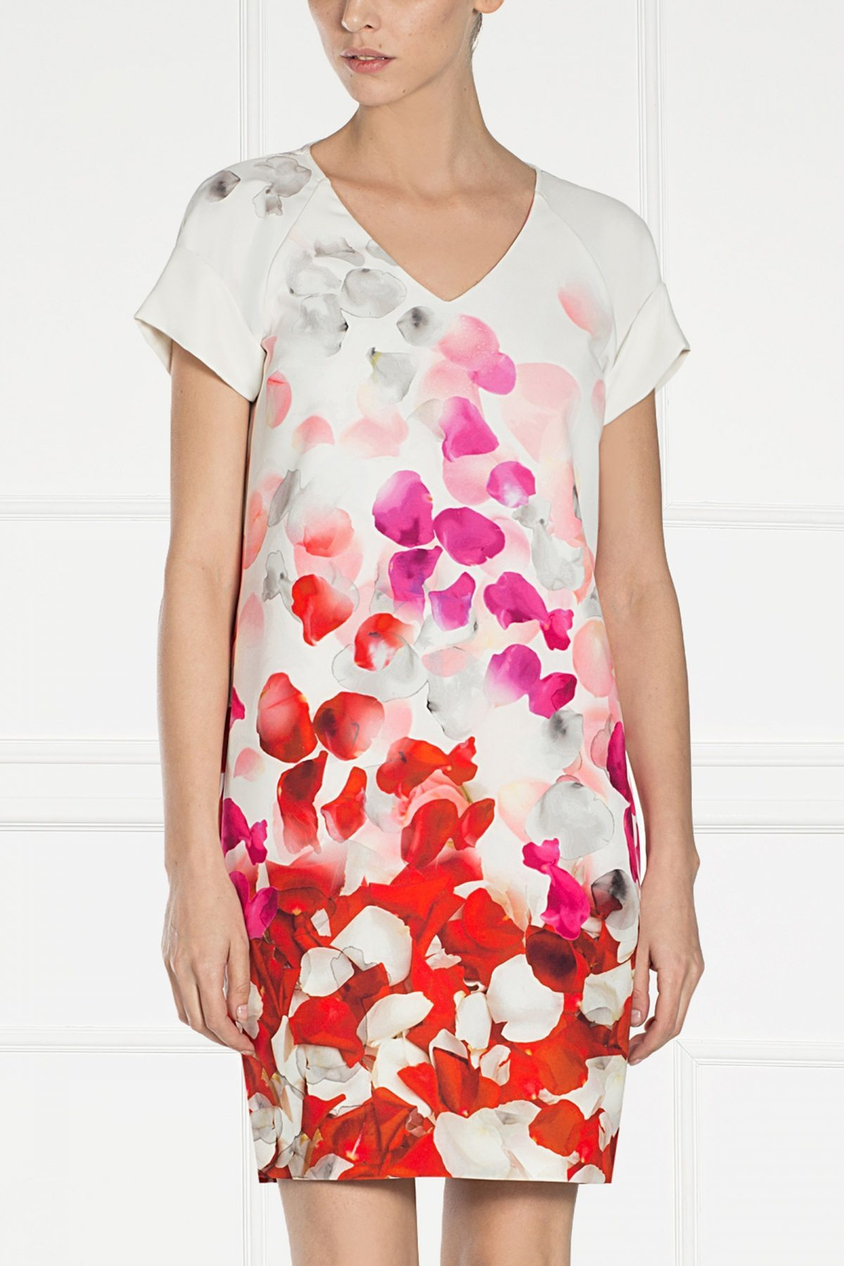Rochie de zi cu imprimeu floral Imprimat