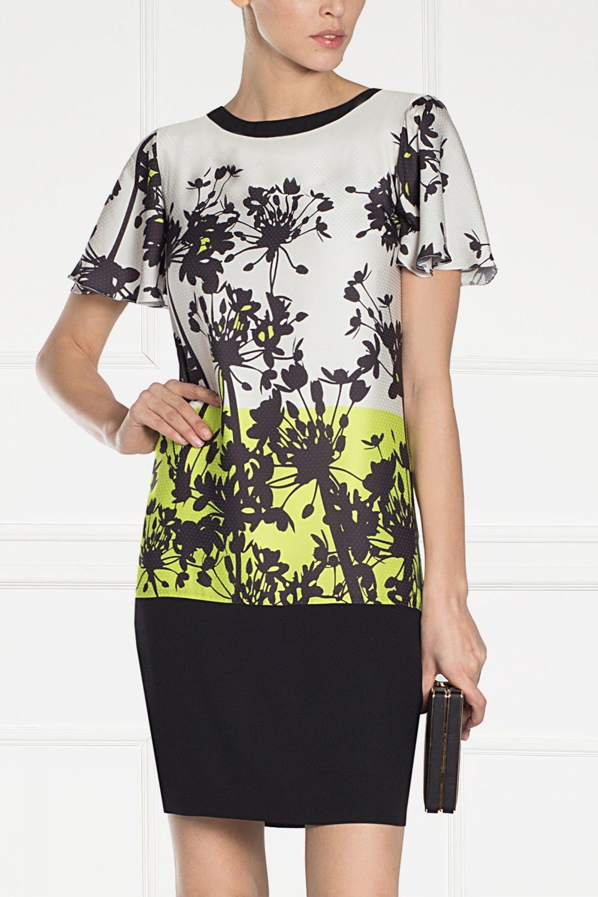 Rochie cu imprimeu grafic floral Print