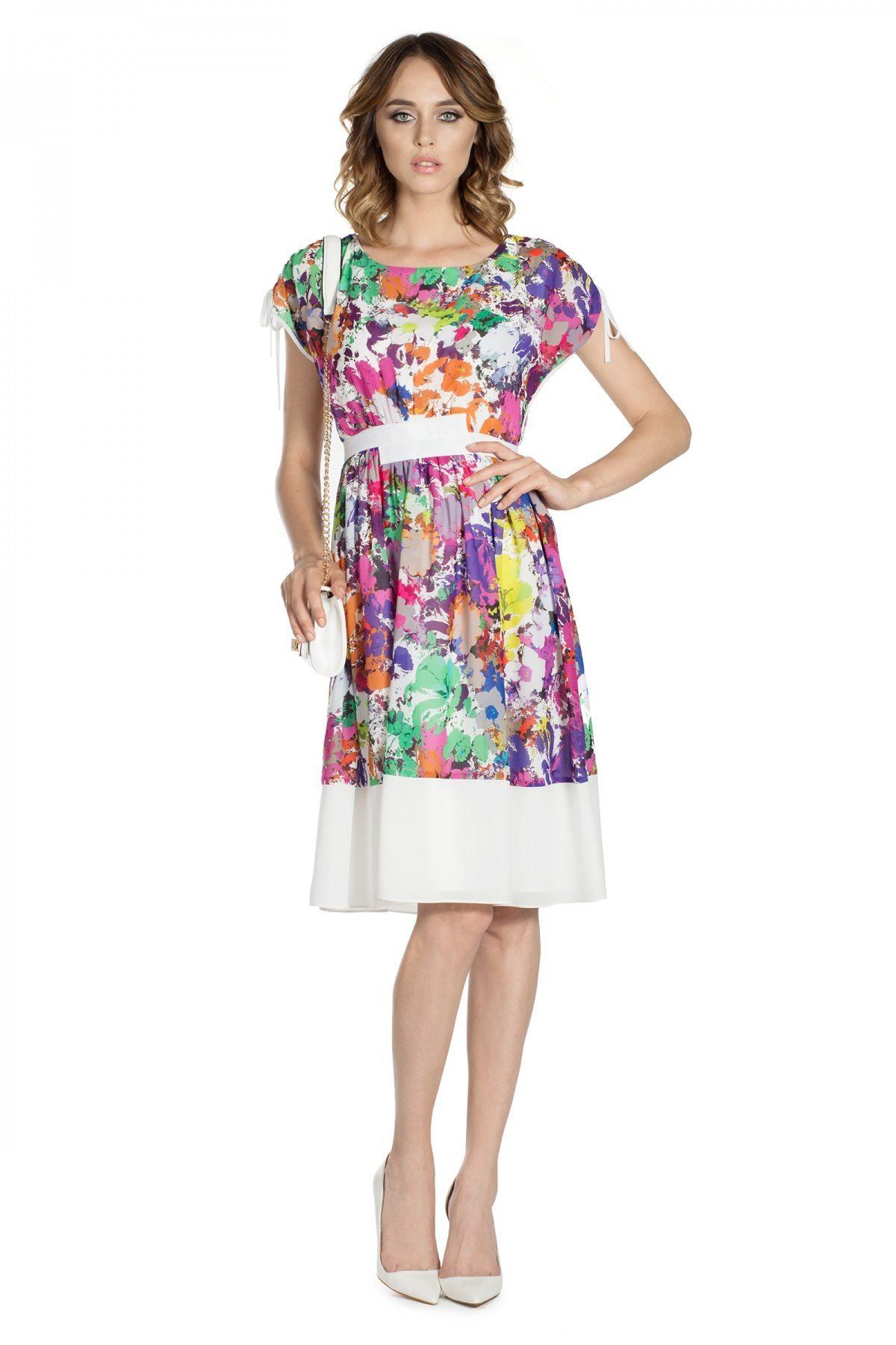 Rochie clos cu imprimeu floral Print