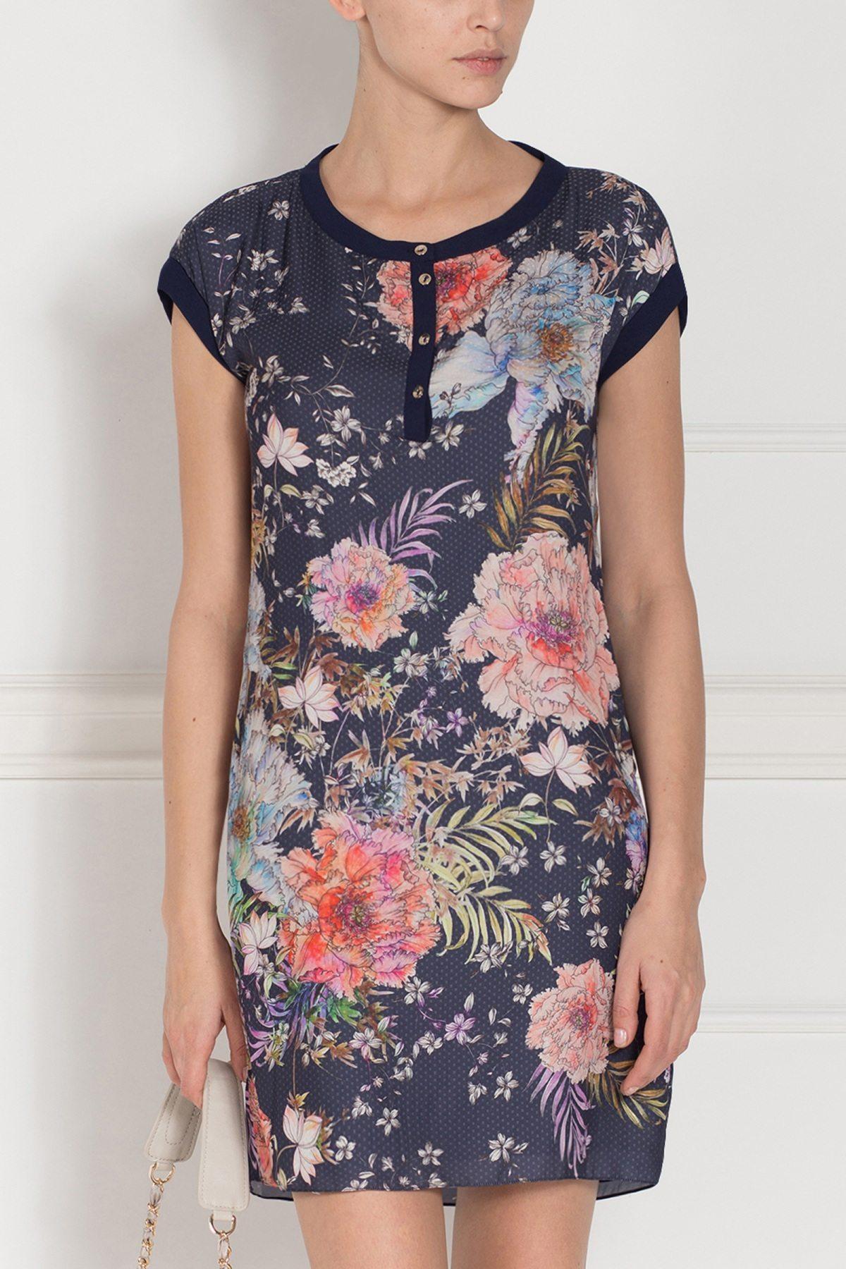 Rochie imprimata floral cu maneca scurta Print