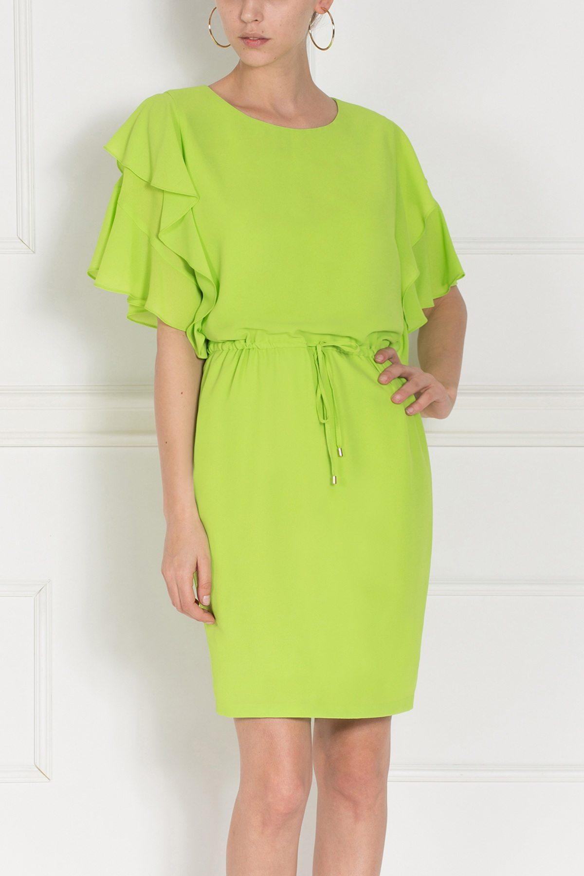Rochie de zi cu volane Verde