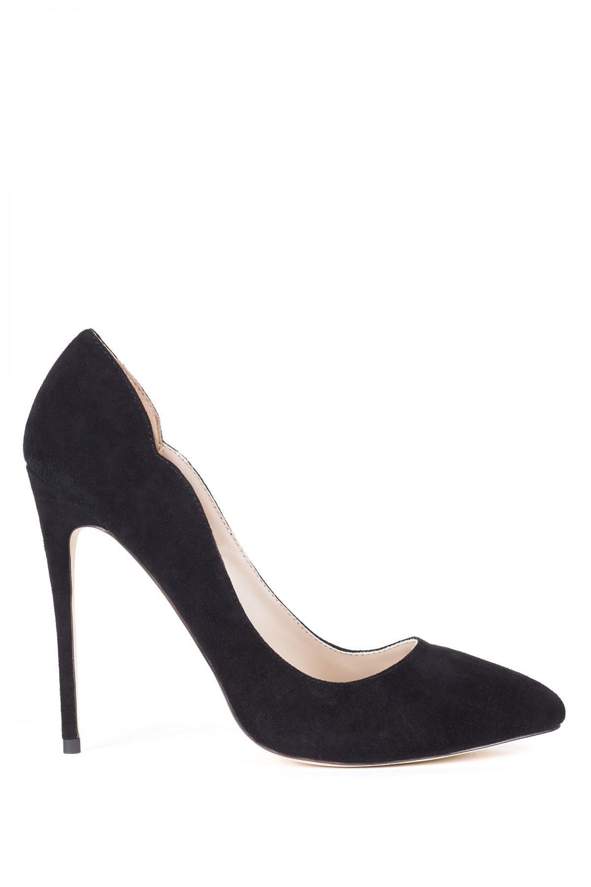 Pantofi stiletto negri Negru
