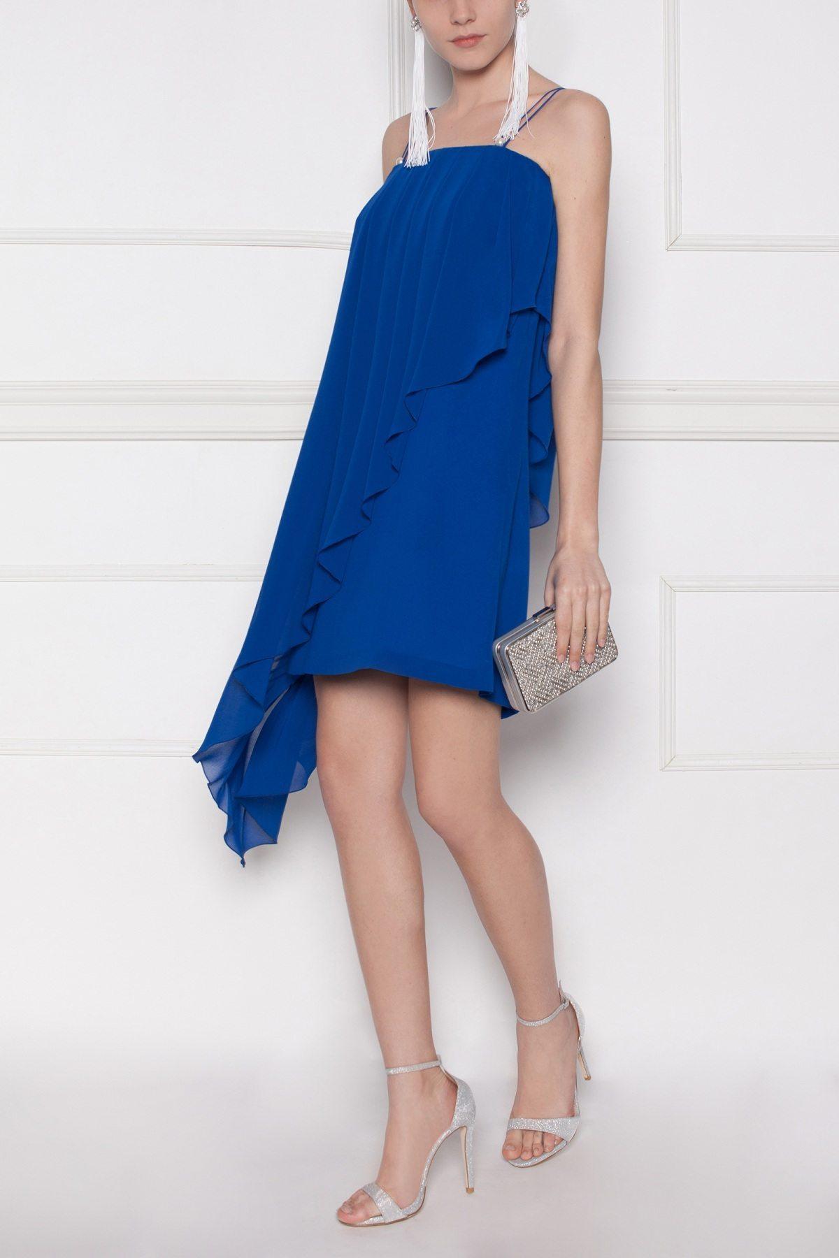 Rochie de seara asimetrica Albastru