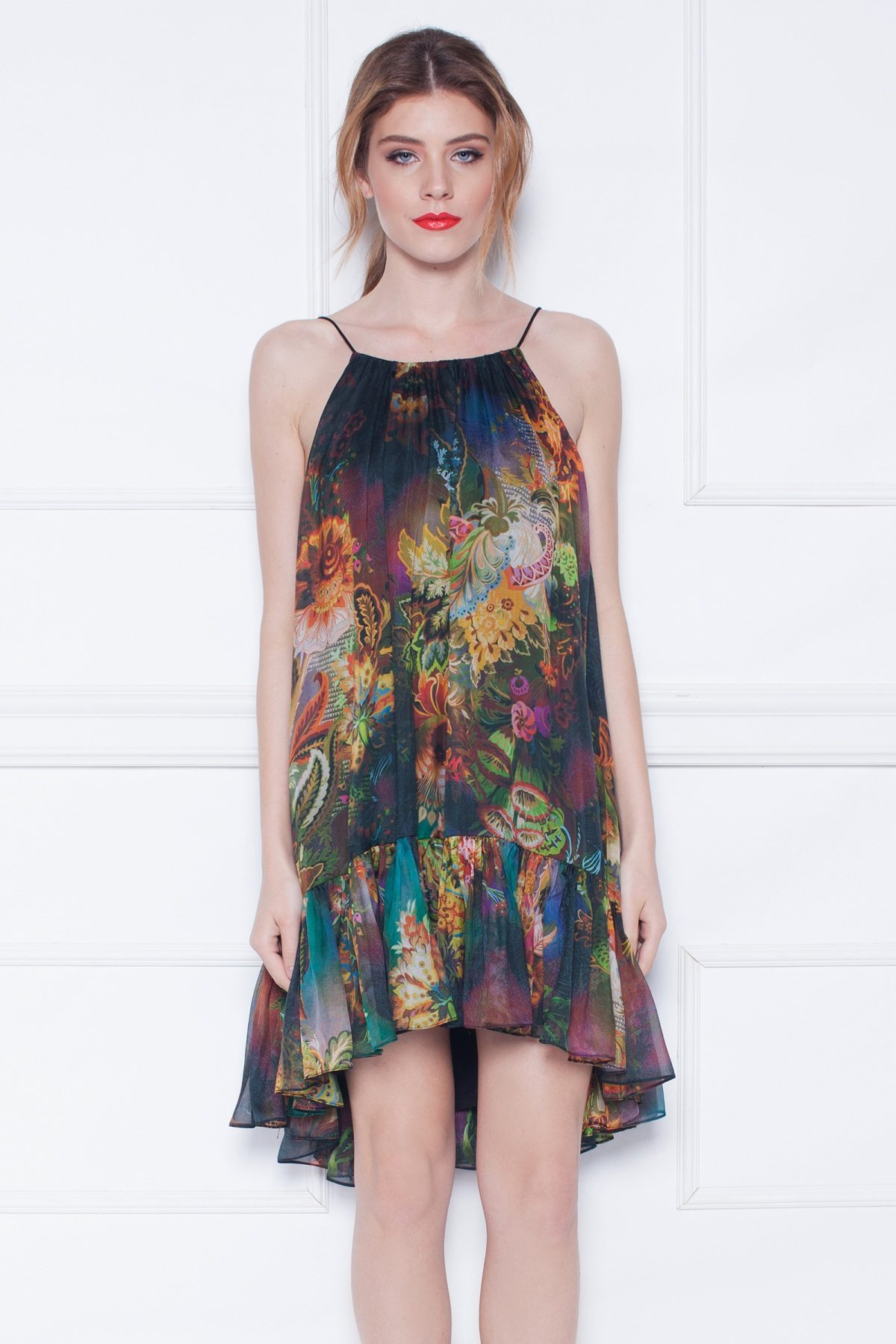 Rochie de zi cu imprimeu abstract Print