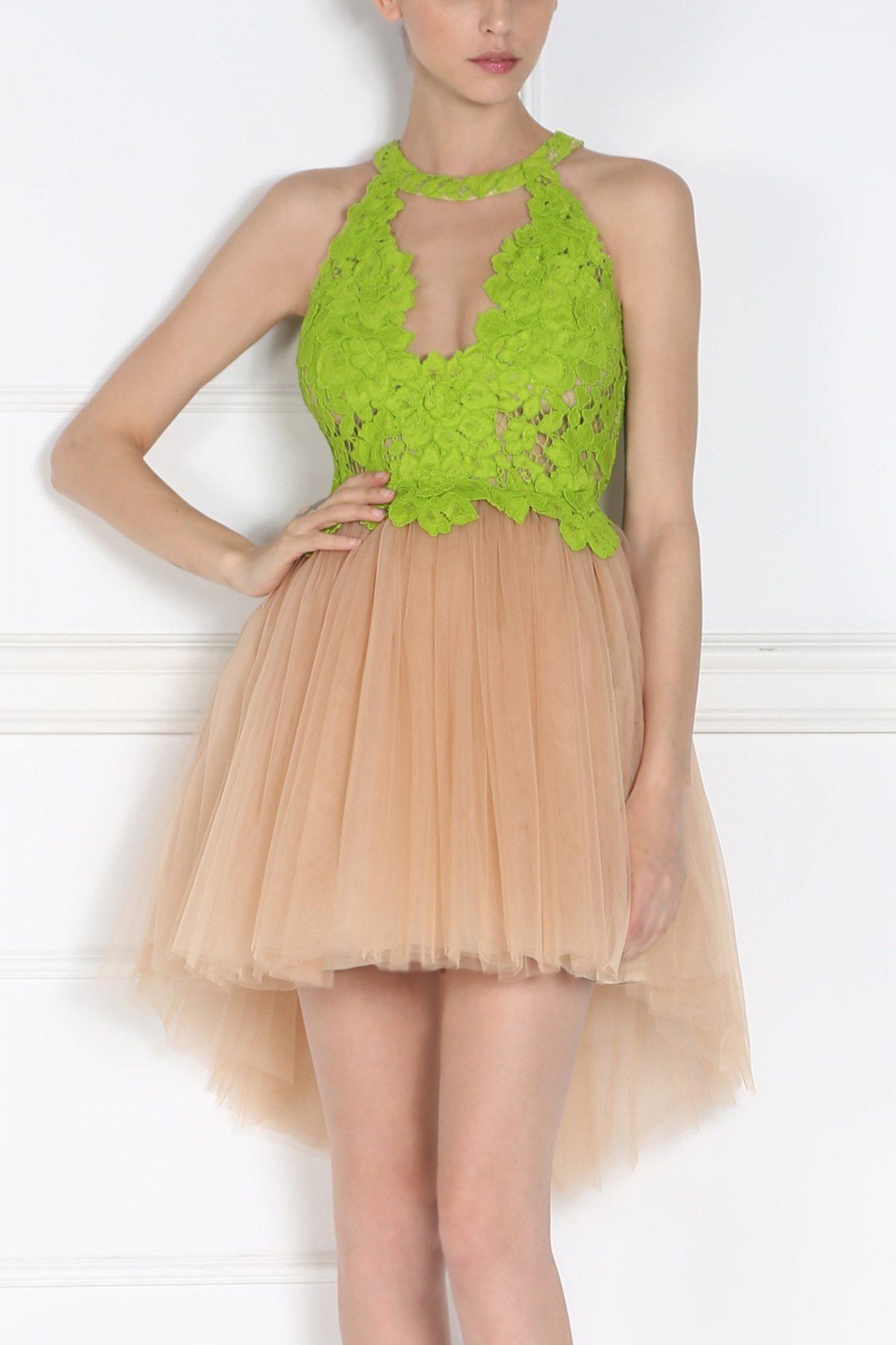 Rochie de seara cu tull Verde