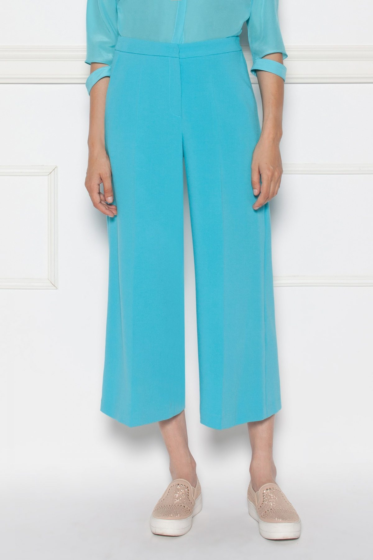 Pantaloni albastri culottes Albastru